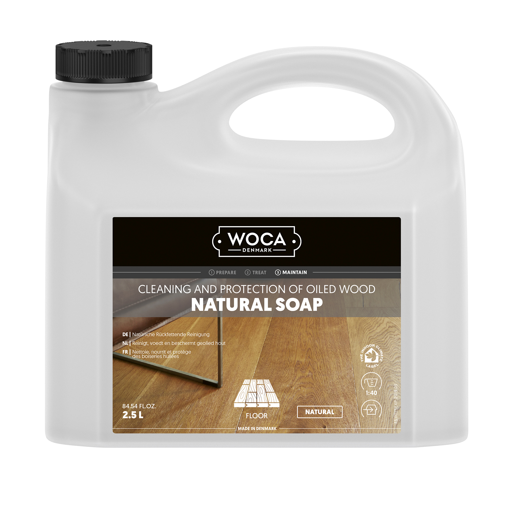 WOCA wood floor soap nature 2,5 Ltr.