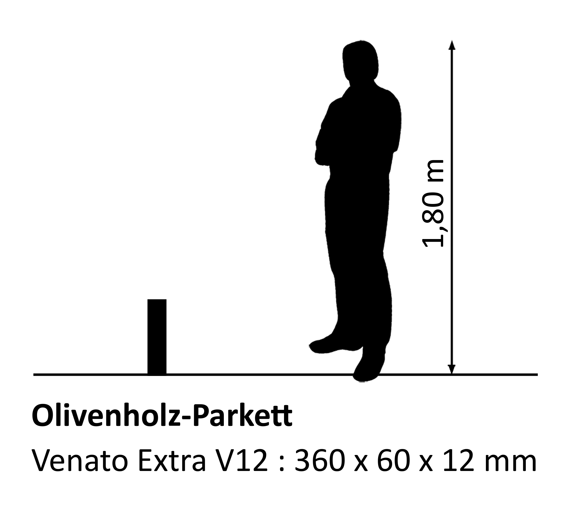 Olivenholzparkett Venato Extra V12