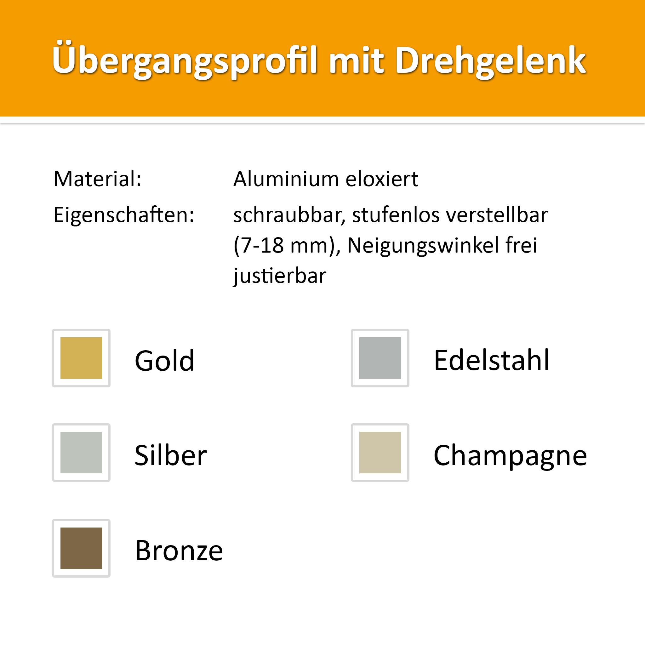 Transition profile alu gold 1,00 m