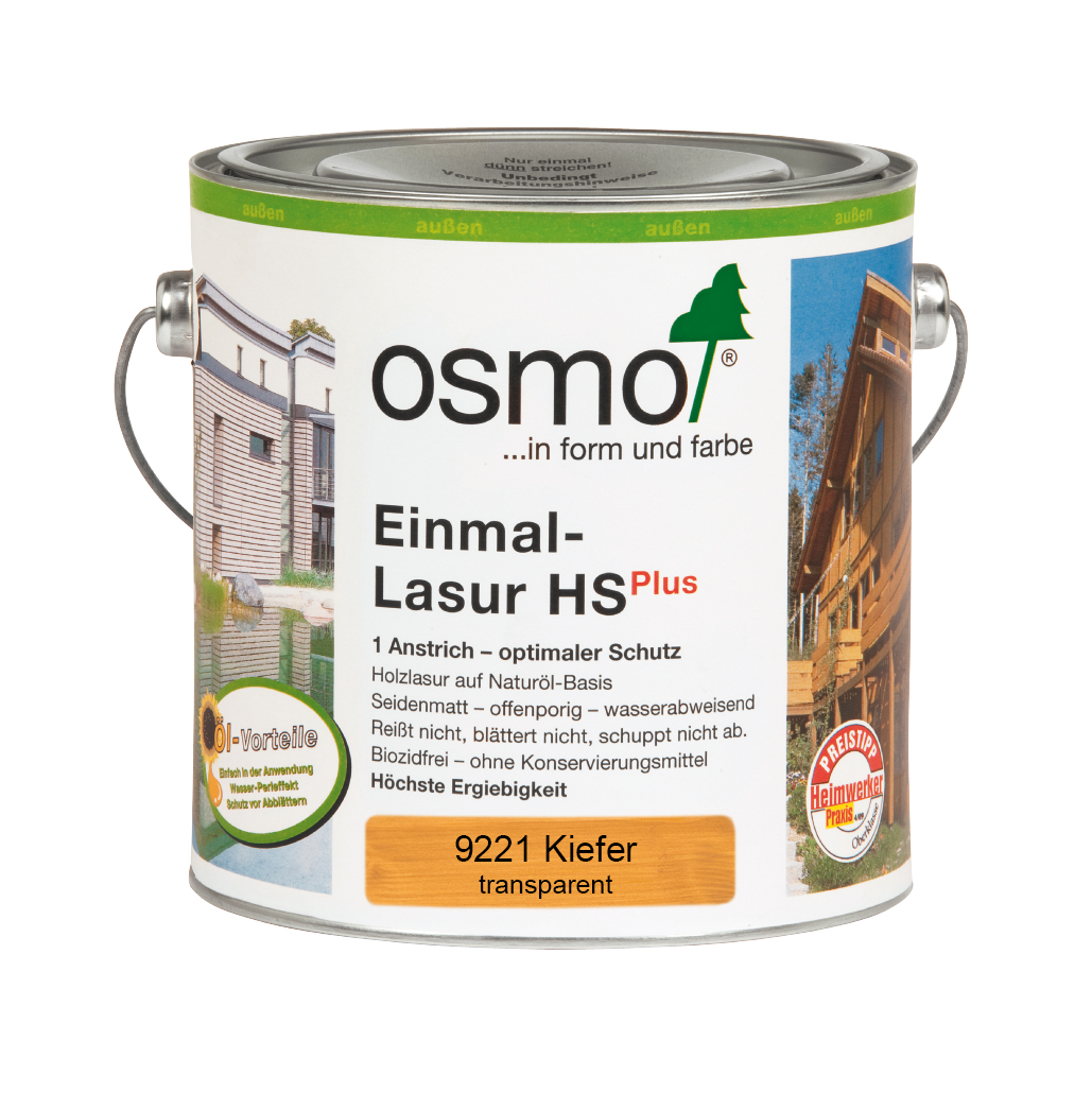 Osmo Einmal-Lasur HS+ Kiefer 2,50 Ltr.