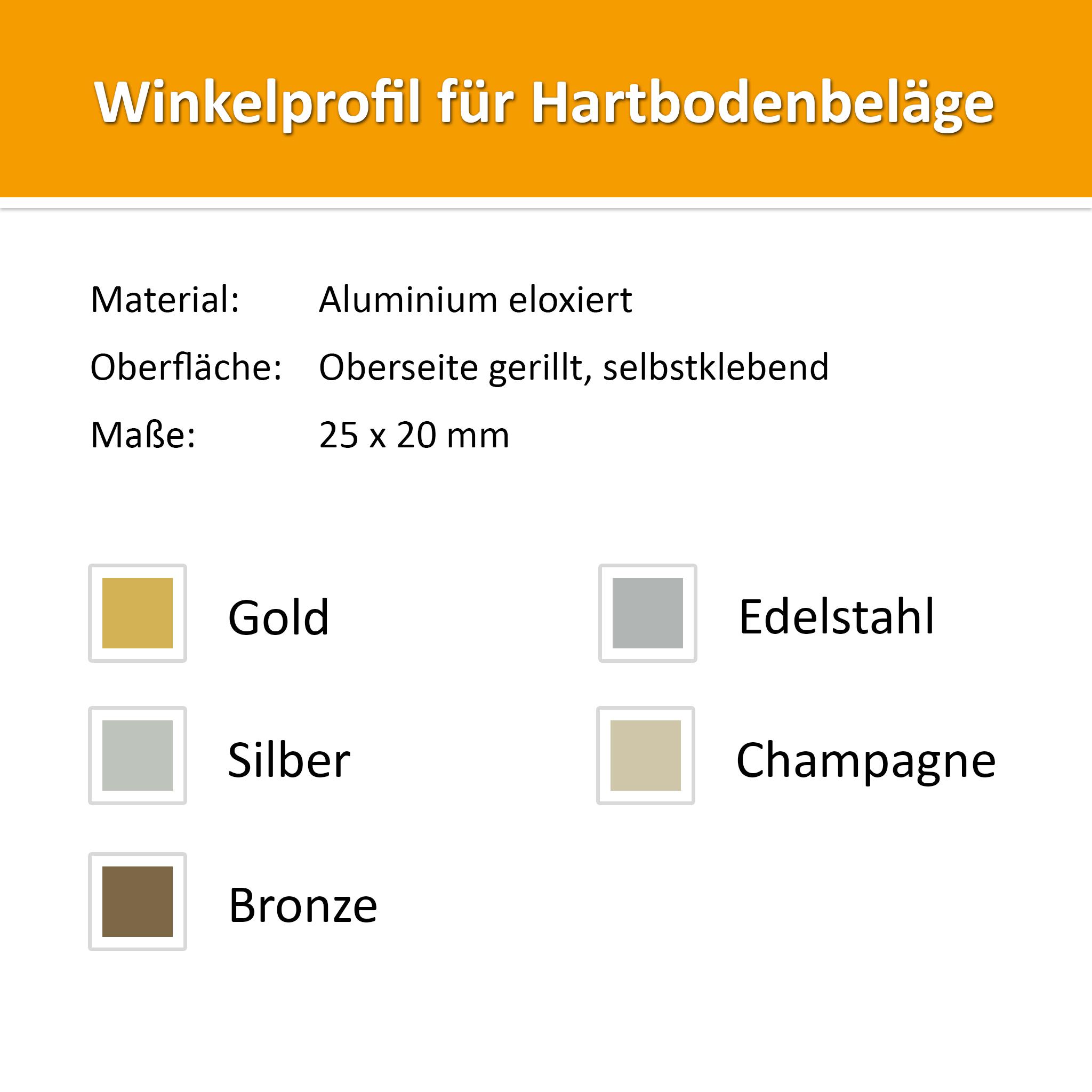 Angle profile 1,00m aluminium gold
