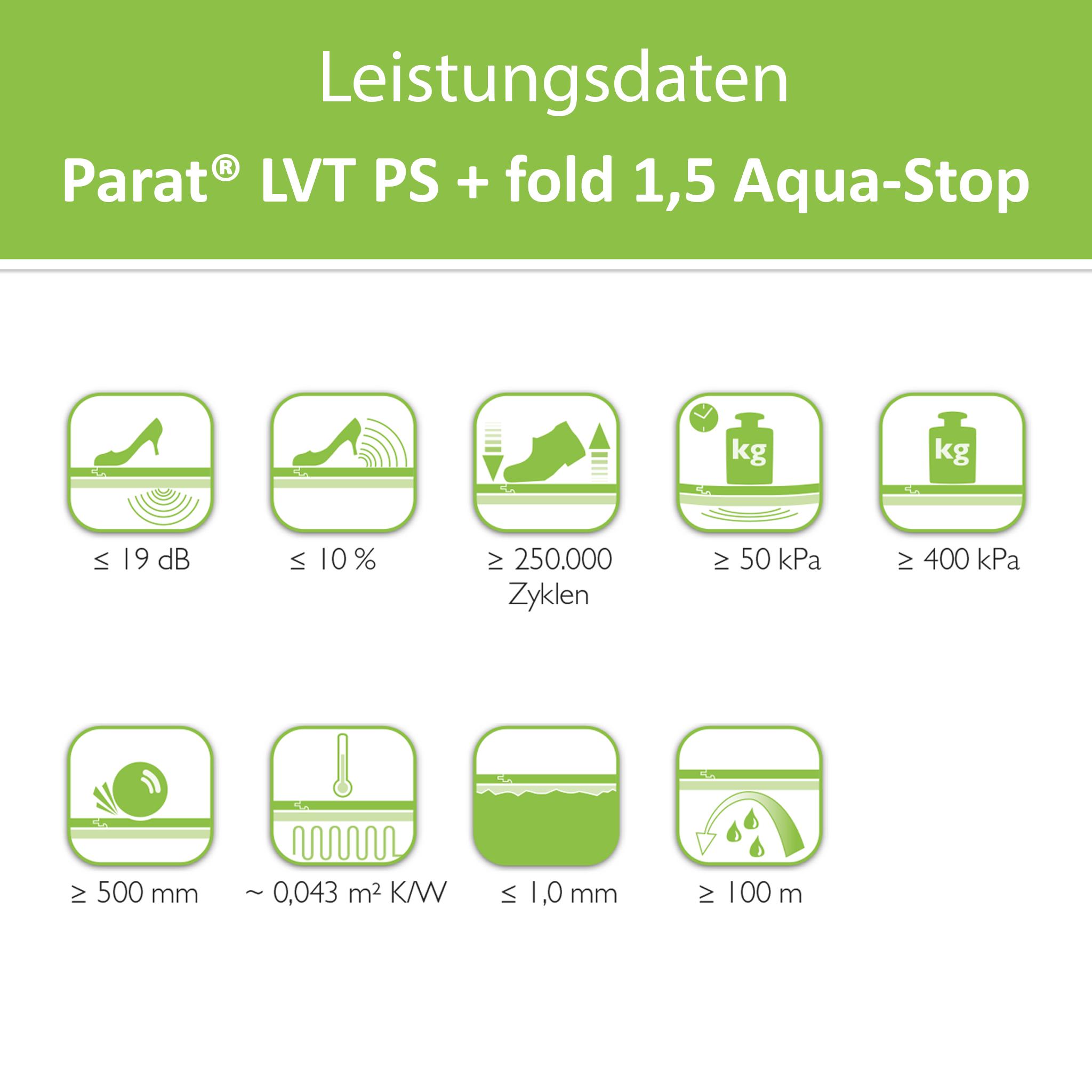 PARAT LVT PS+ Fold 1,5 with Aqua-Stop