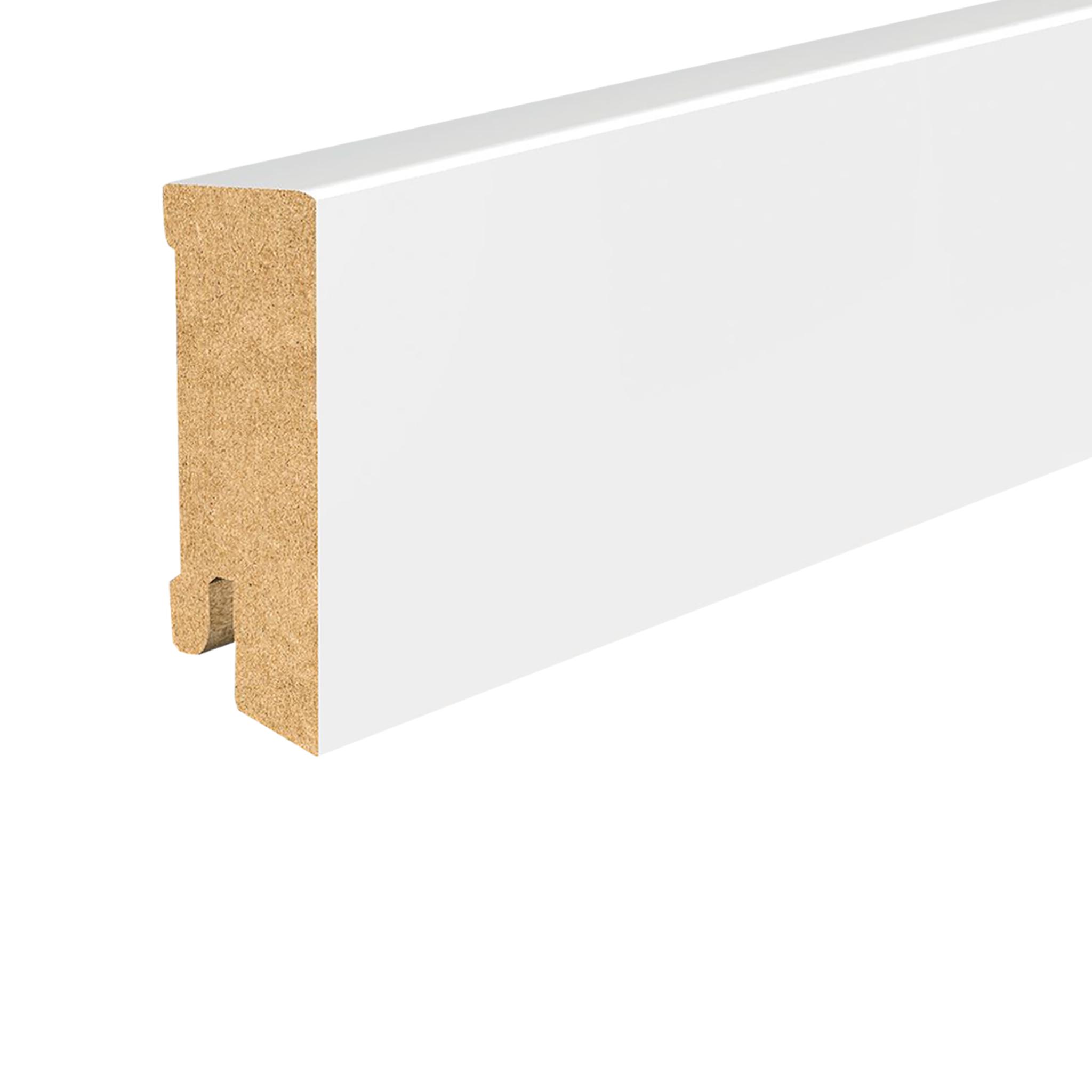 Sockelleiste MDF 630 Cube weiß lack.