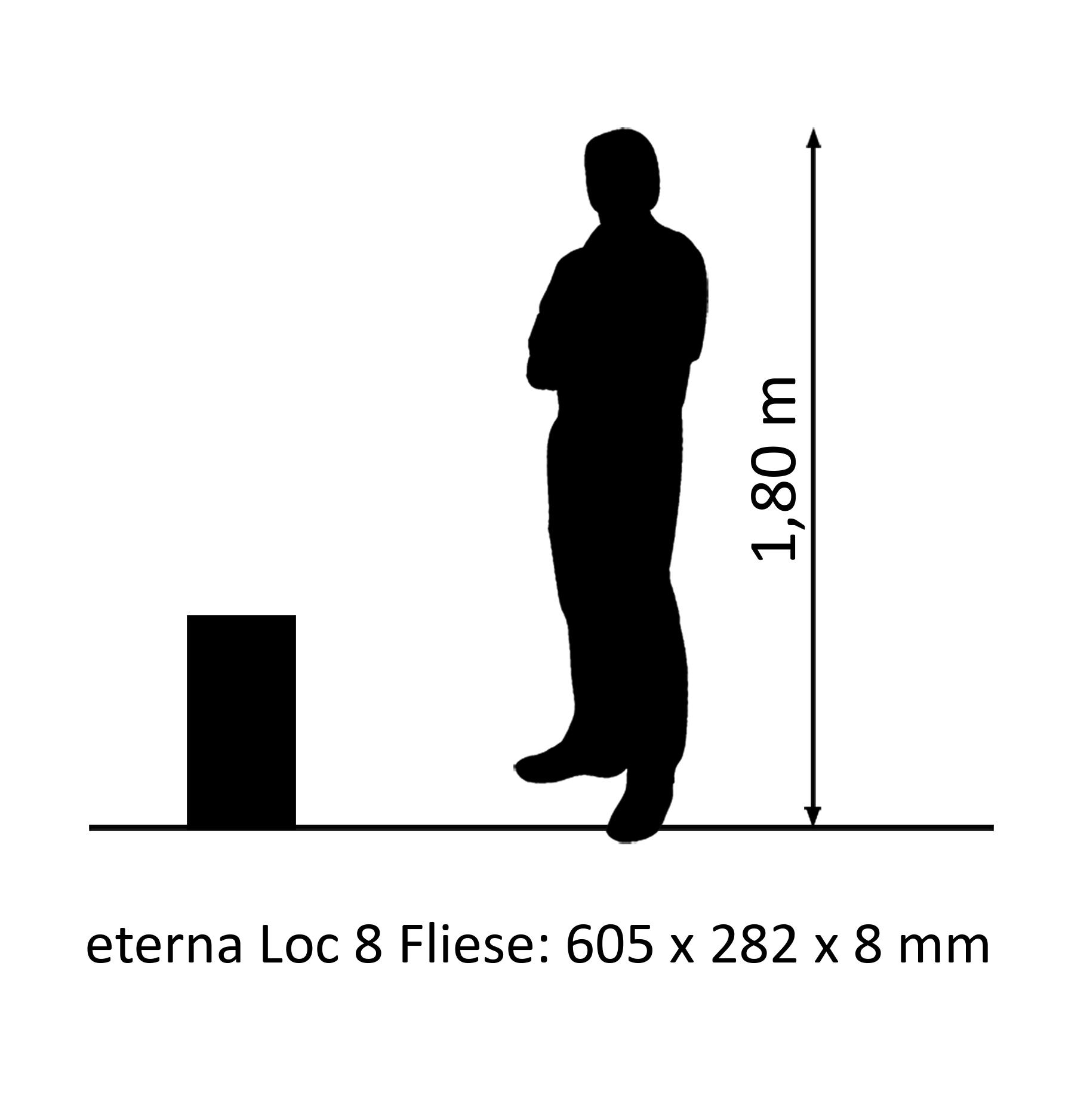 eterna Loc 8 Laminatfliese Schiefer