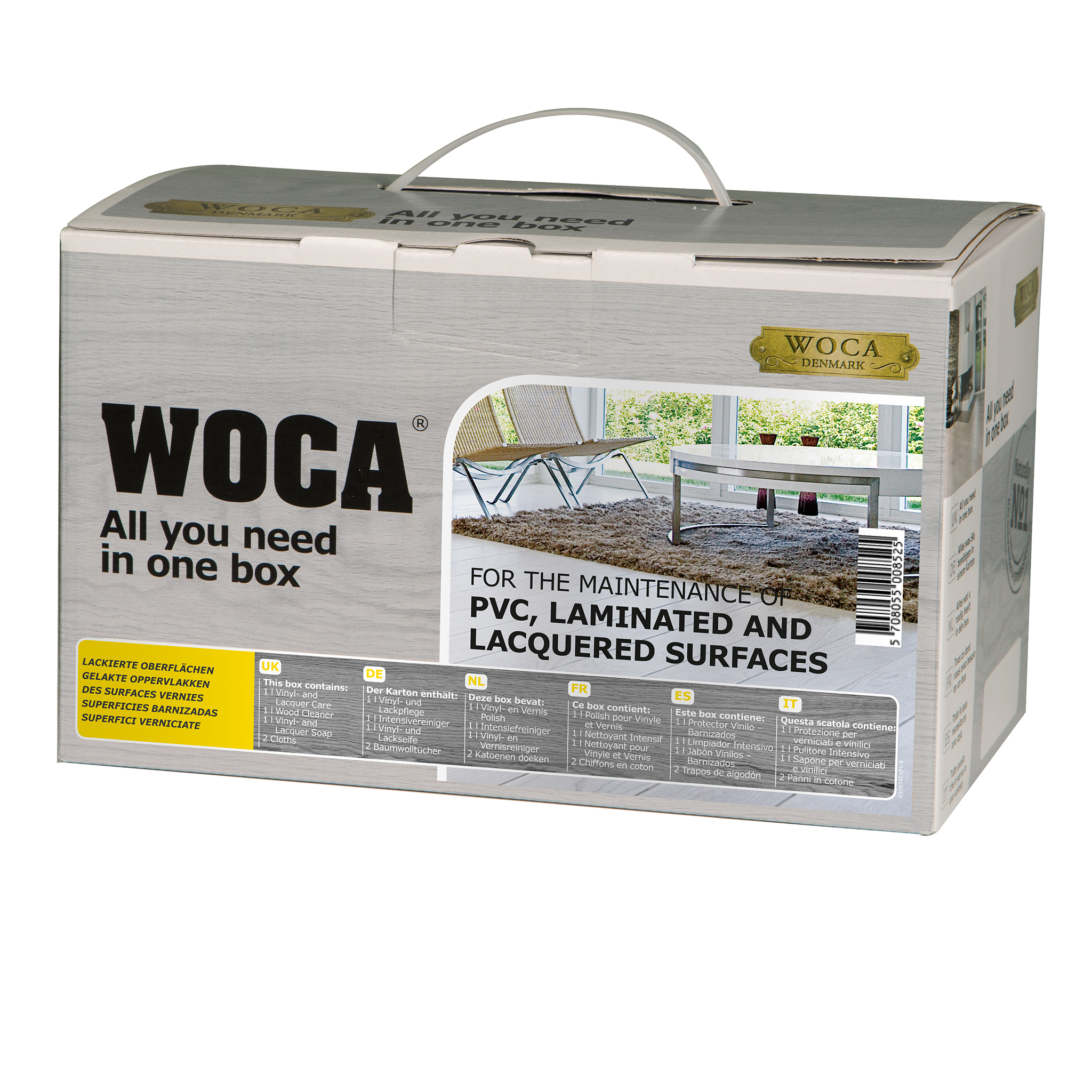 WOCA Lack-Pflegebox matt 6-teilig