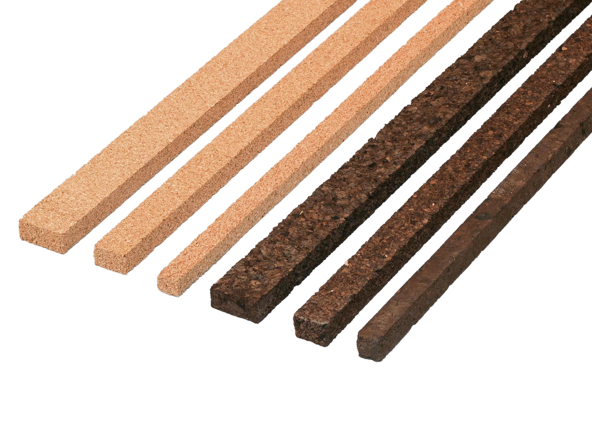 Parat cork stripes --dark-- 10x10mm