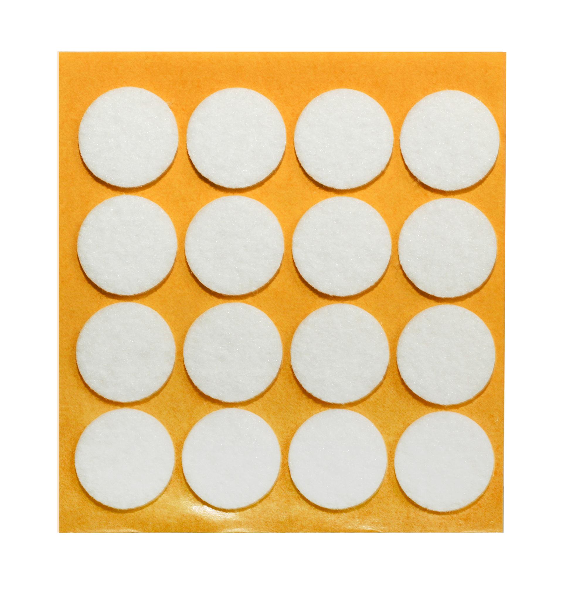 Filzgleiter weiß selbstklebend Ø 22mm