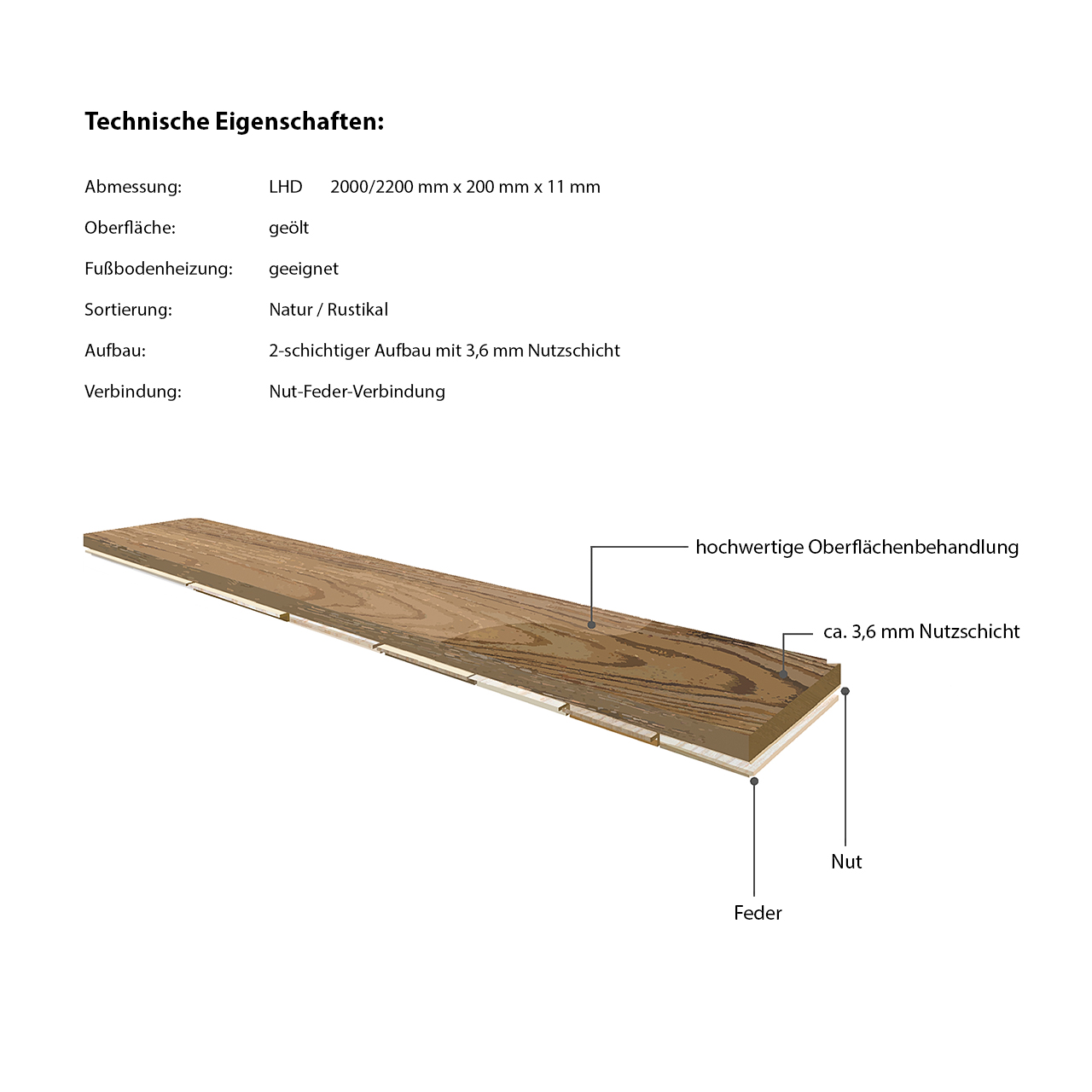 Floor-Art Da Vinci Eiche Prime geölt