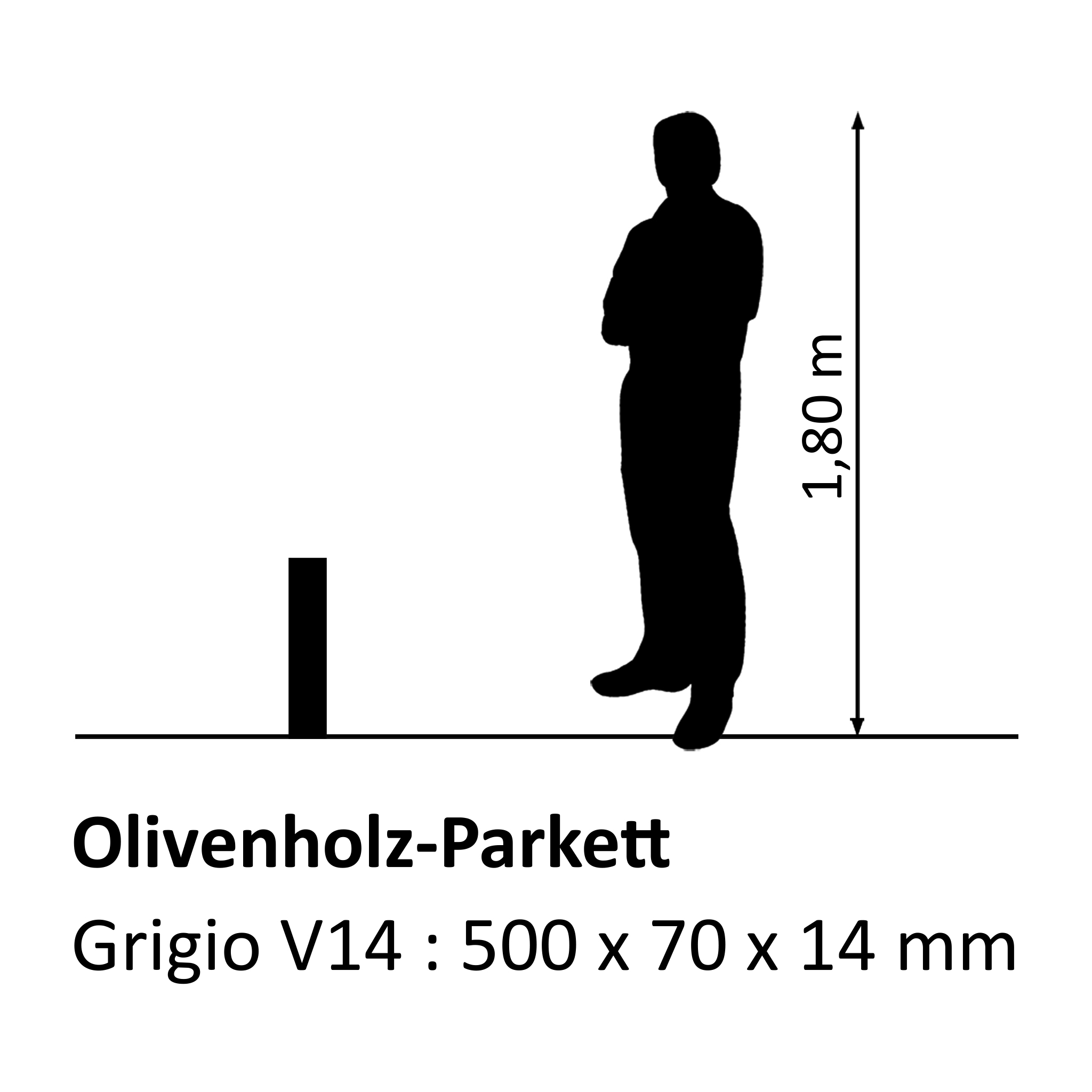 Olivenholzparkett Grigio V14
