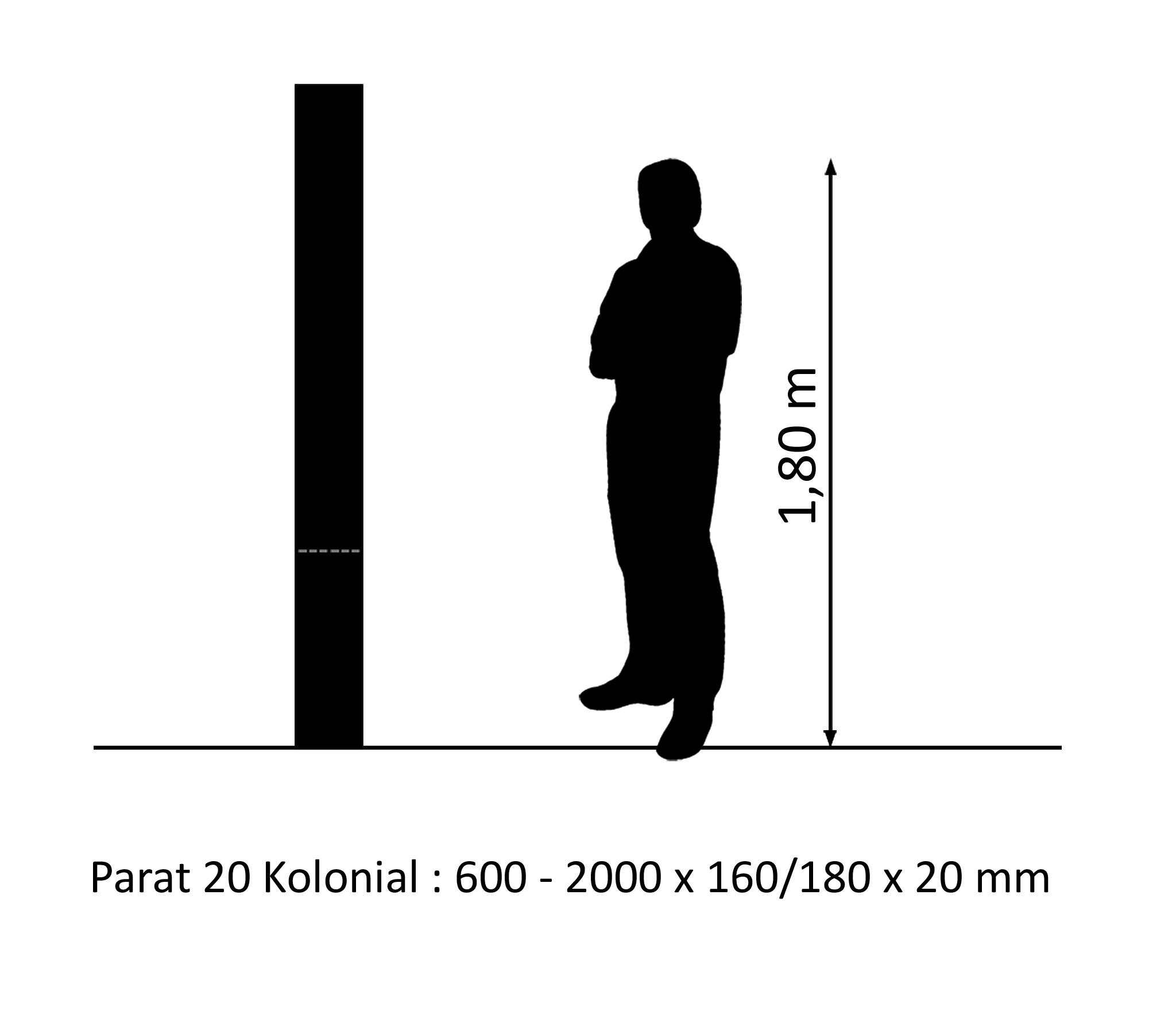PARAT 20 Kolonial Eiche Columbia 20mm