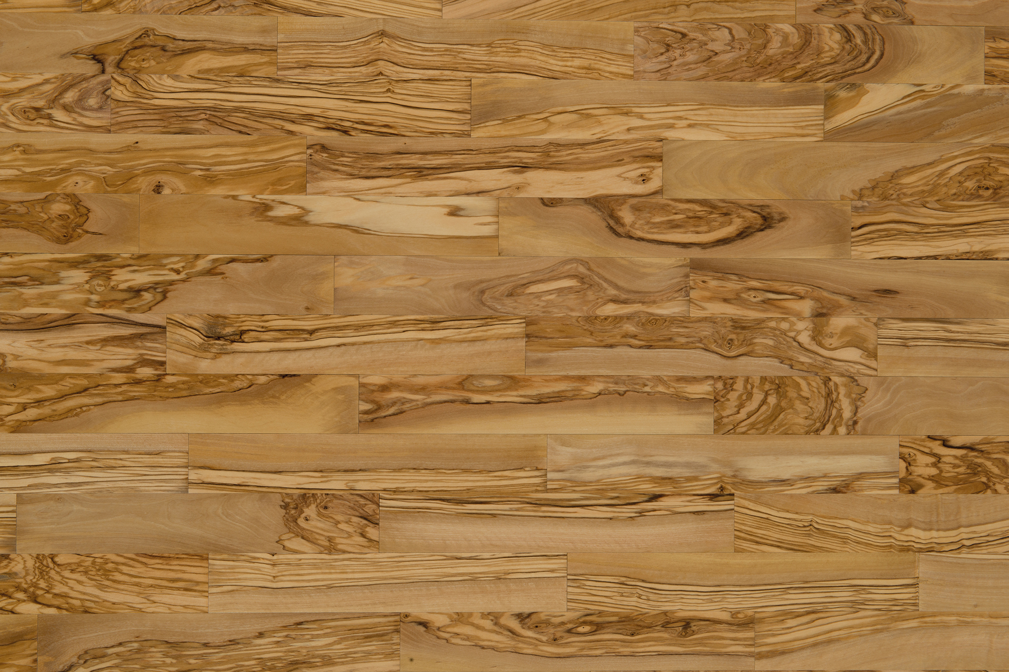 Olive wood parquet Semivenato V14