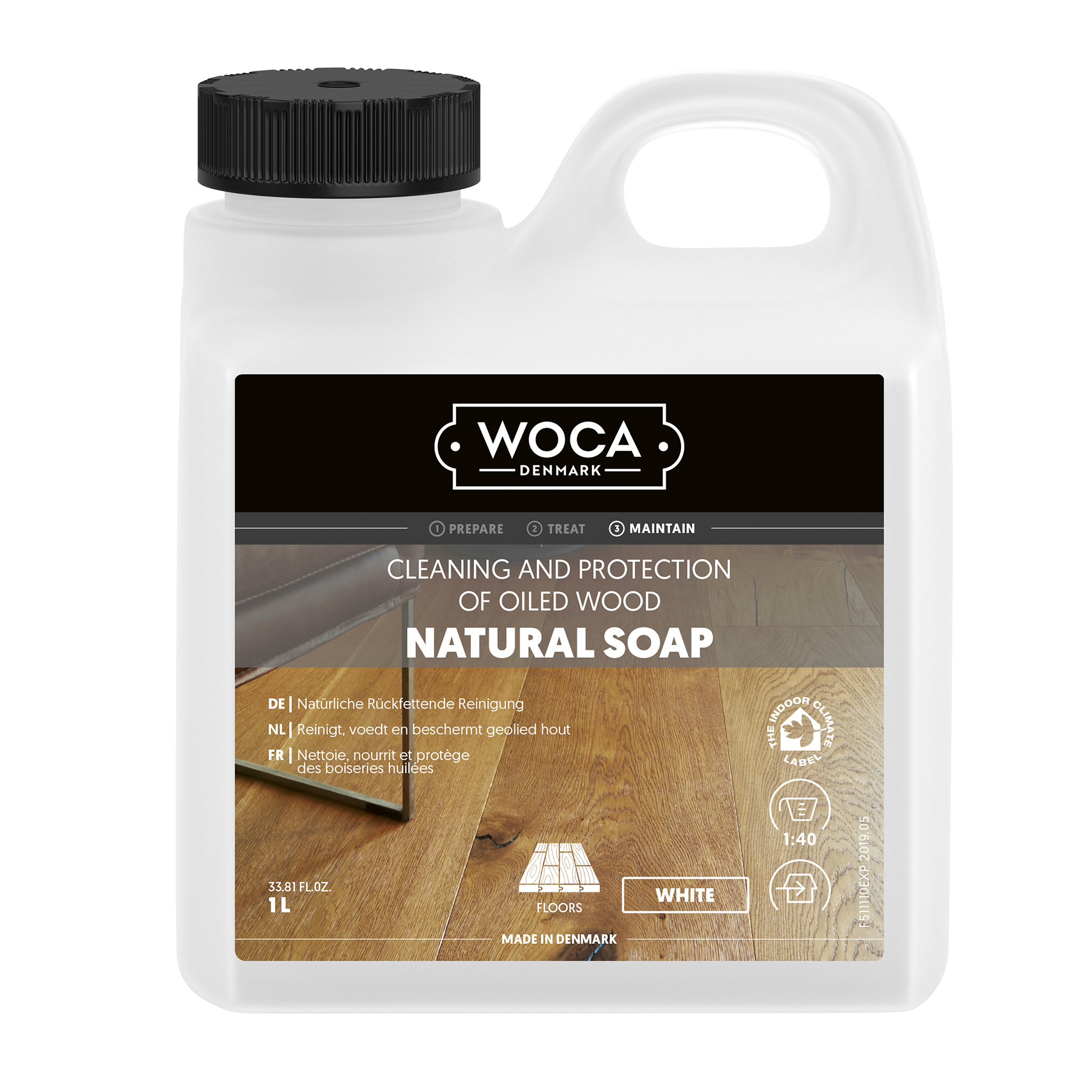 WOCA wood floor soap white 1 Ltr.