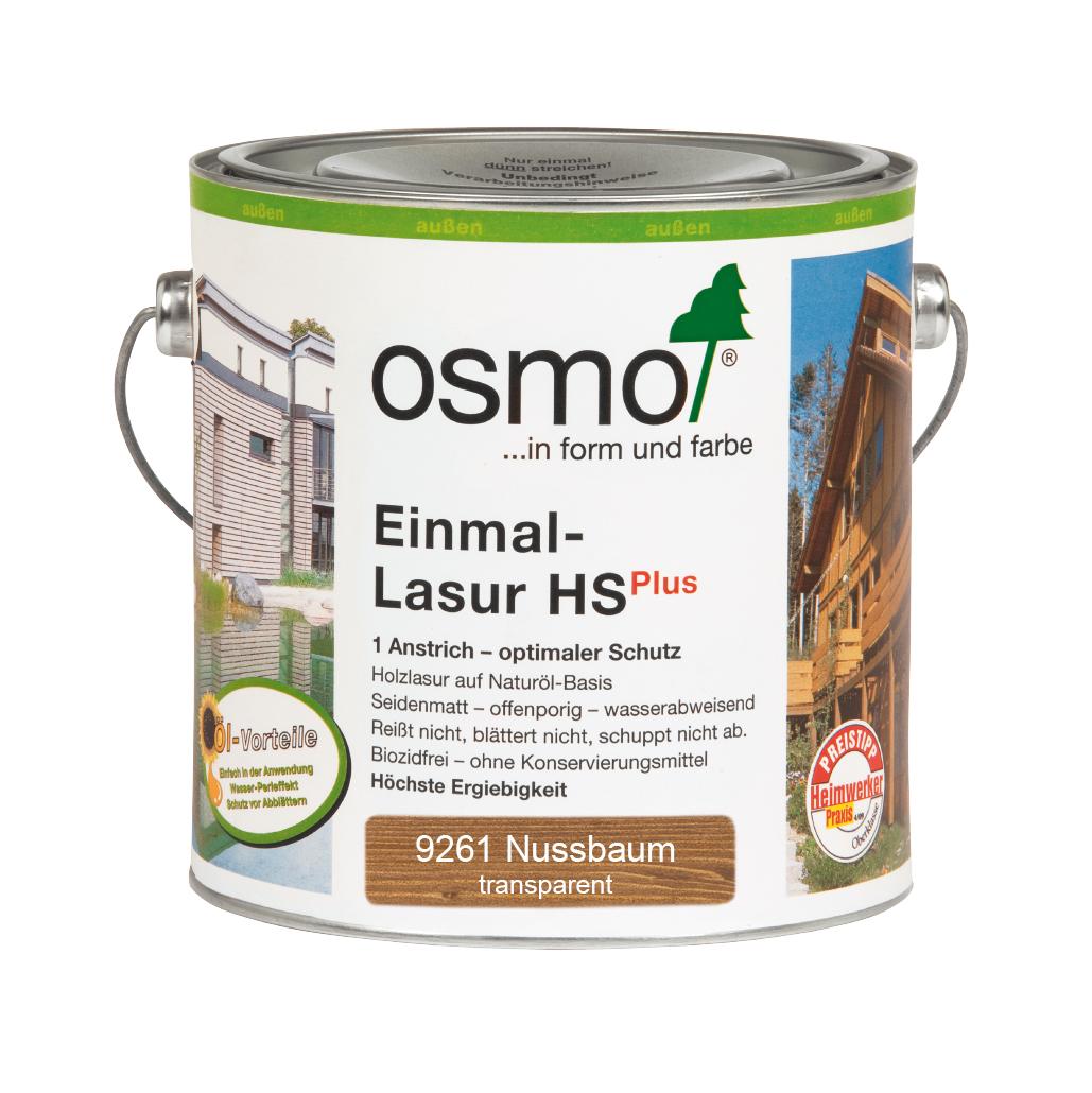 Osmo Einmal-Lasur HS+ Nussbaum 2,50 L.