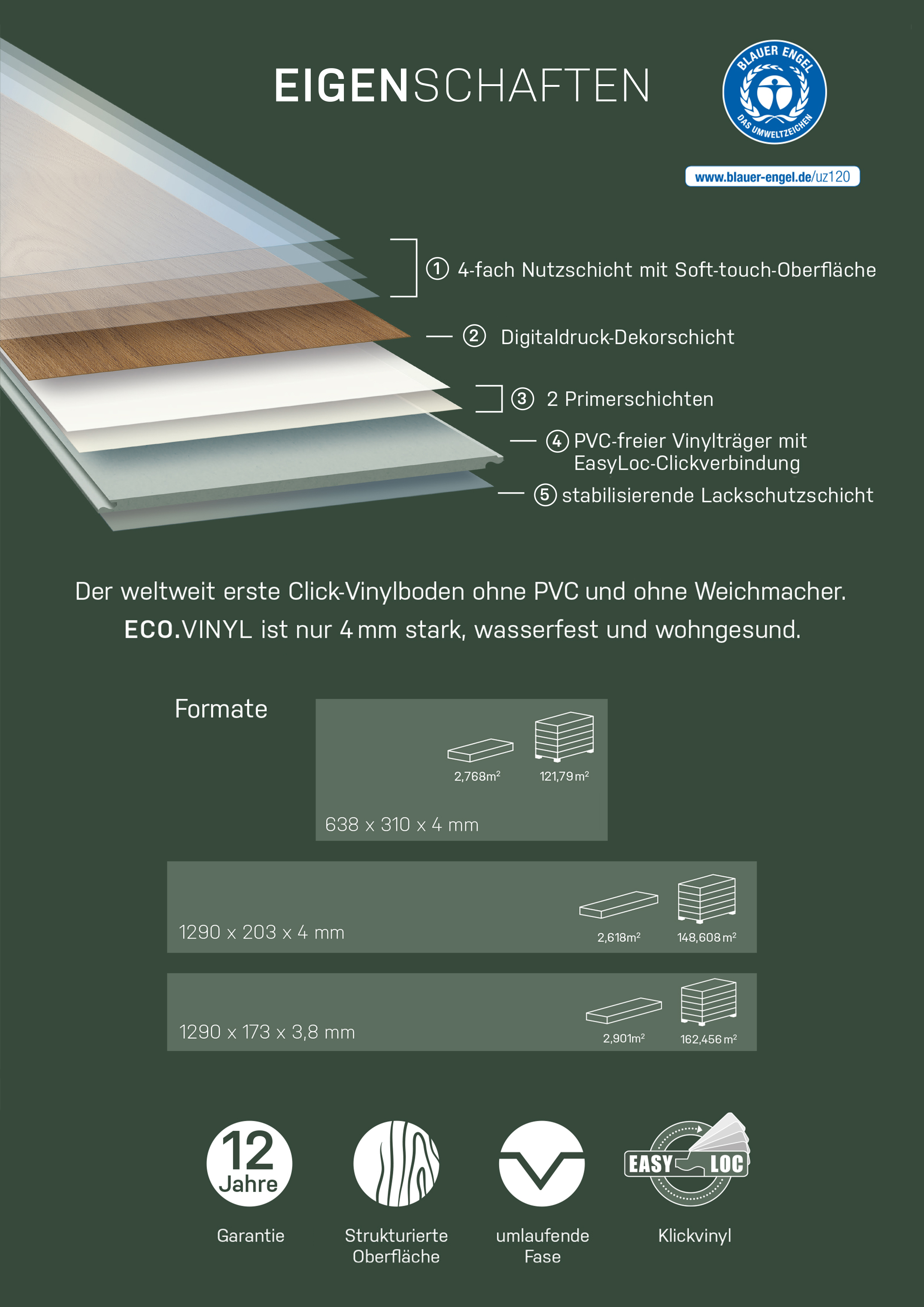 Eco Vinyl Eiche Balance Vinylboden