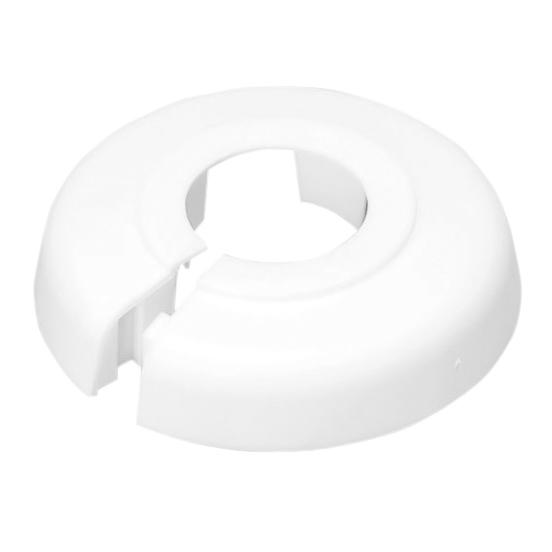 Heizkörper-Rosette Weiß 18mm