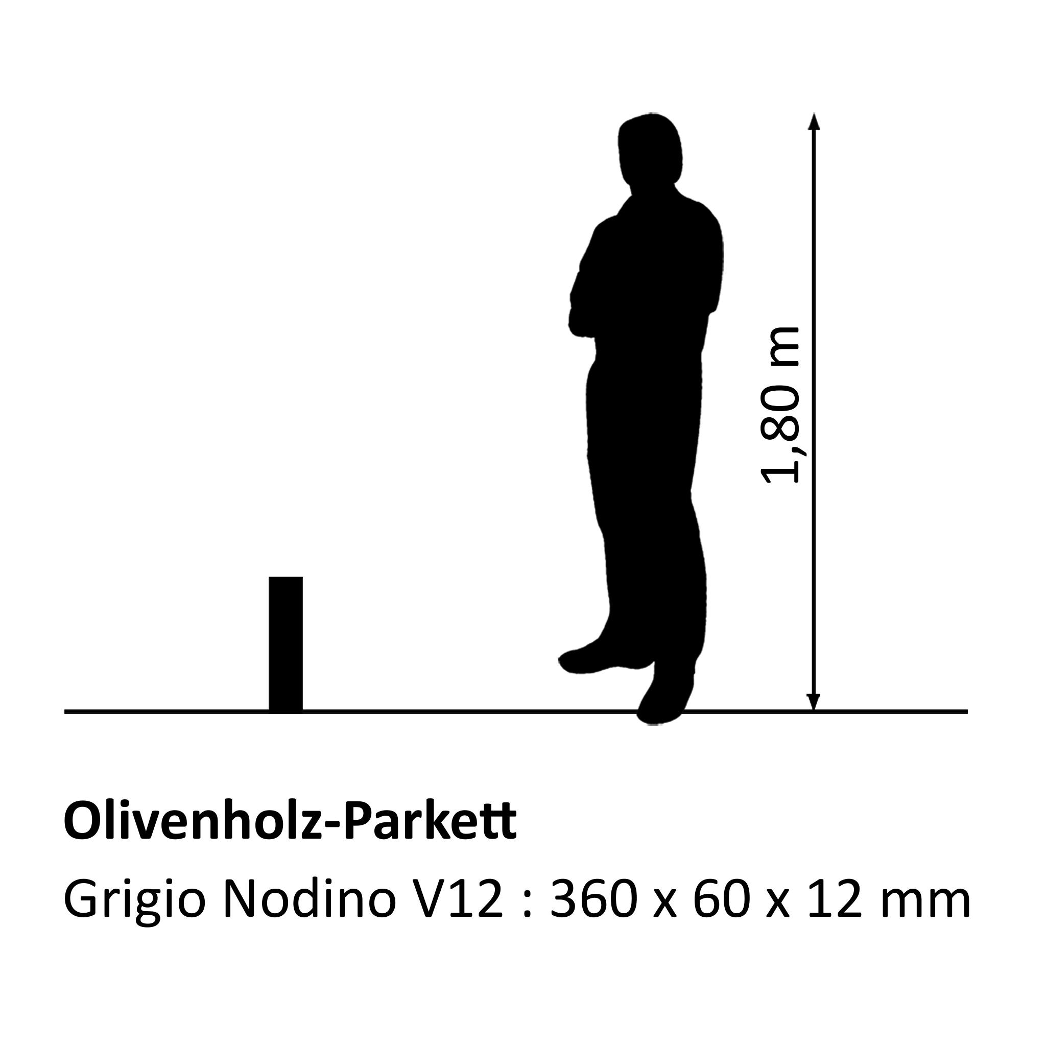 Olivenholz-Parkett Grigio Nodino V12