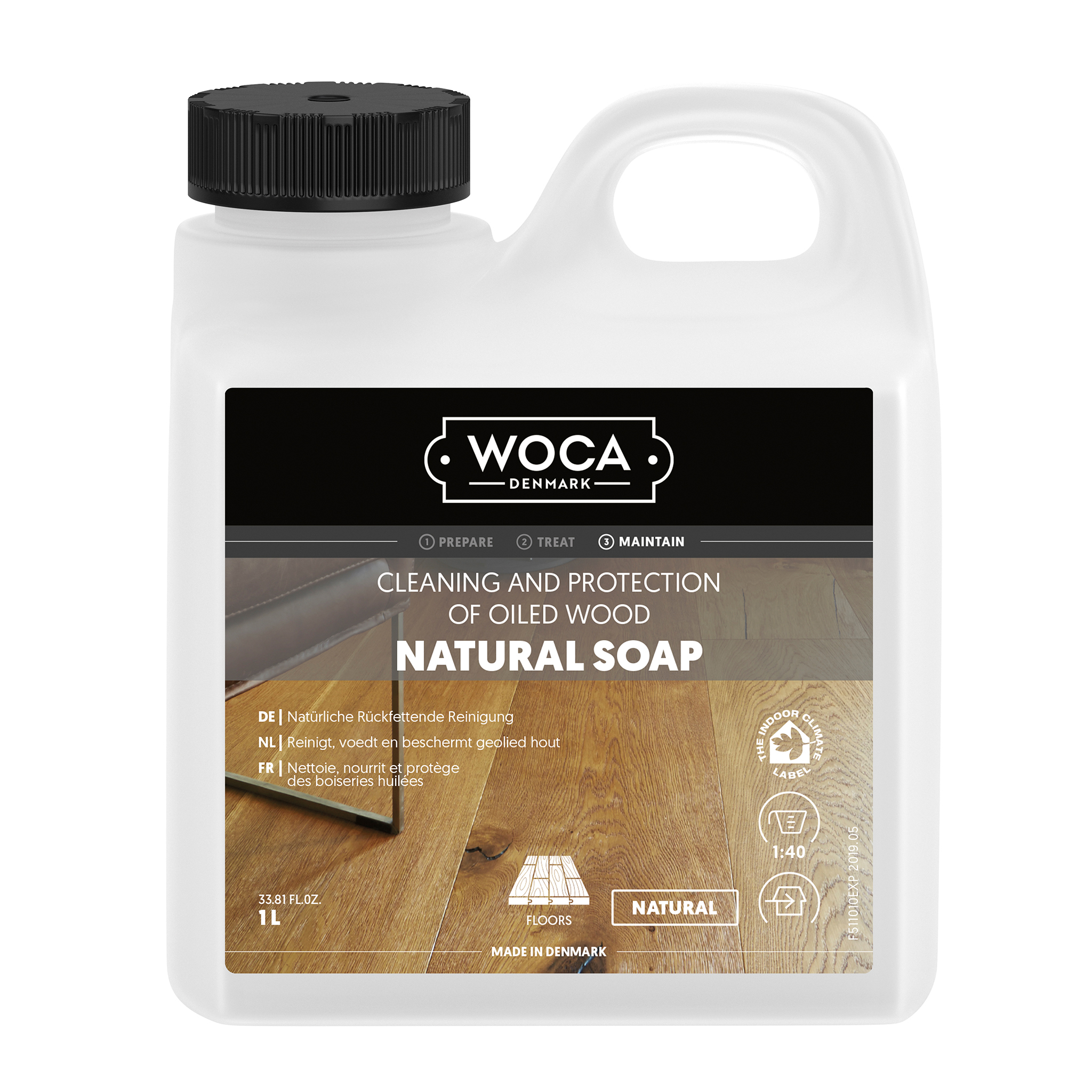 WOCA Holzbodenseife Natur 1 Ltr.