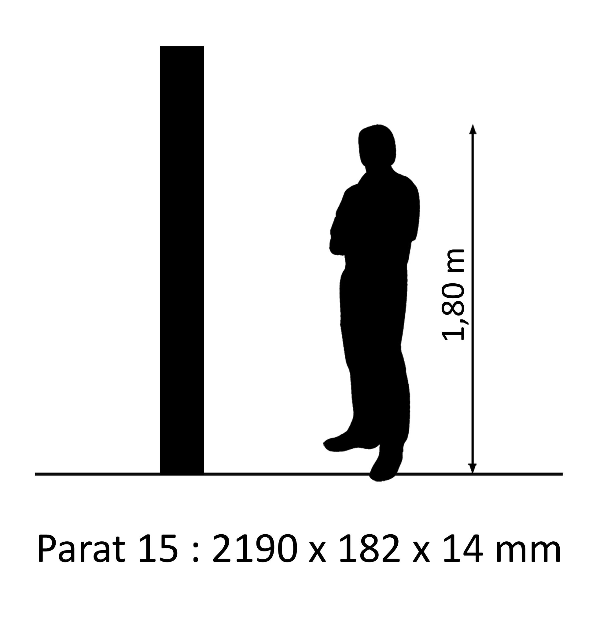 PARAT 15 Eiche Natur SB Mattlack 14mm