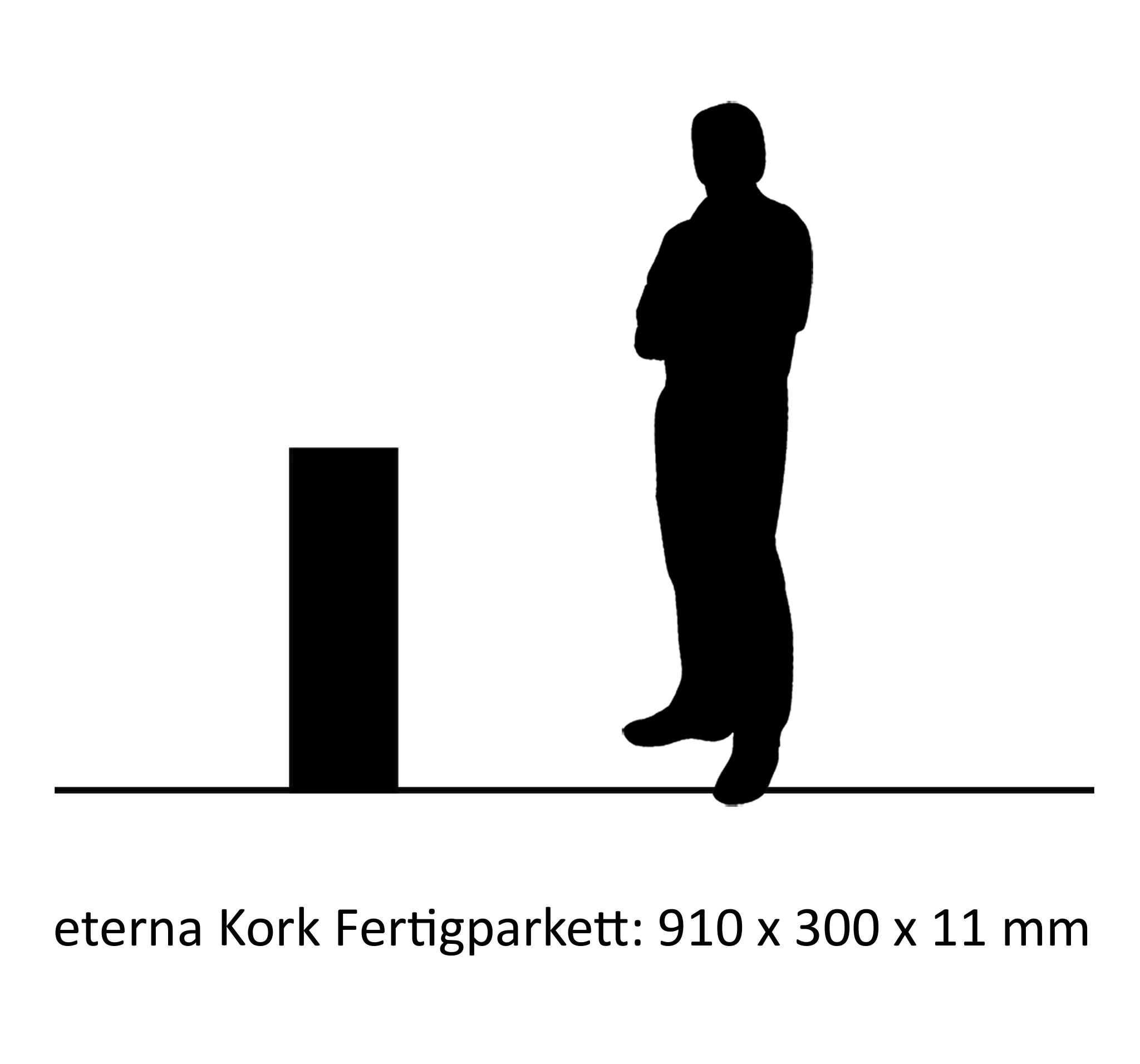 eterna Kork-Fertigparkett Rosas (Marmor)
