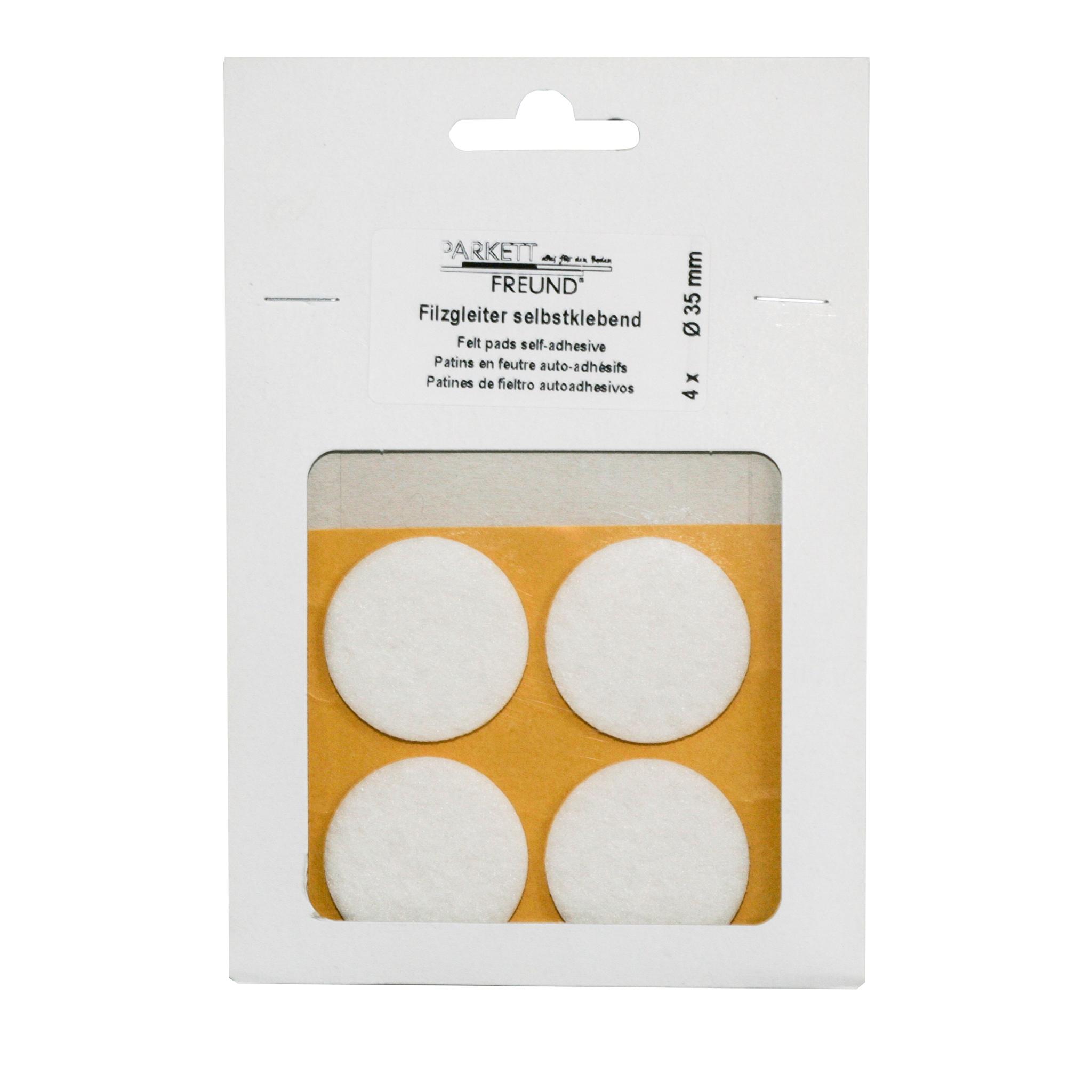 Filzgleiter weiß selbstklebend Ø 35mm