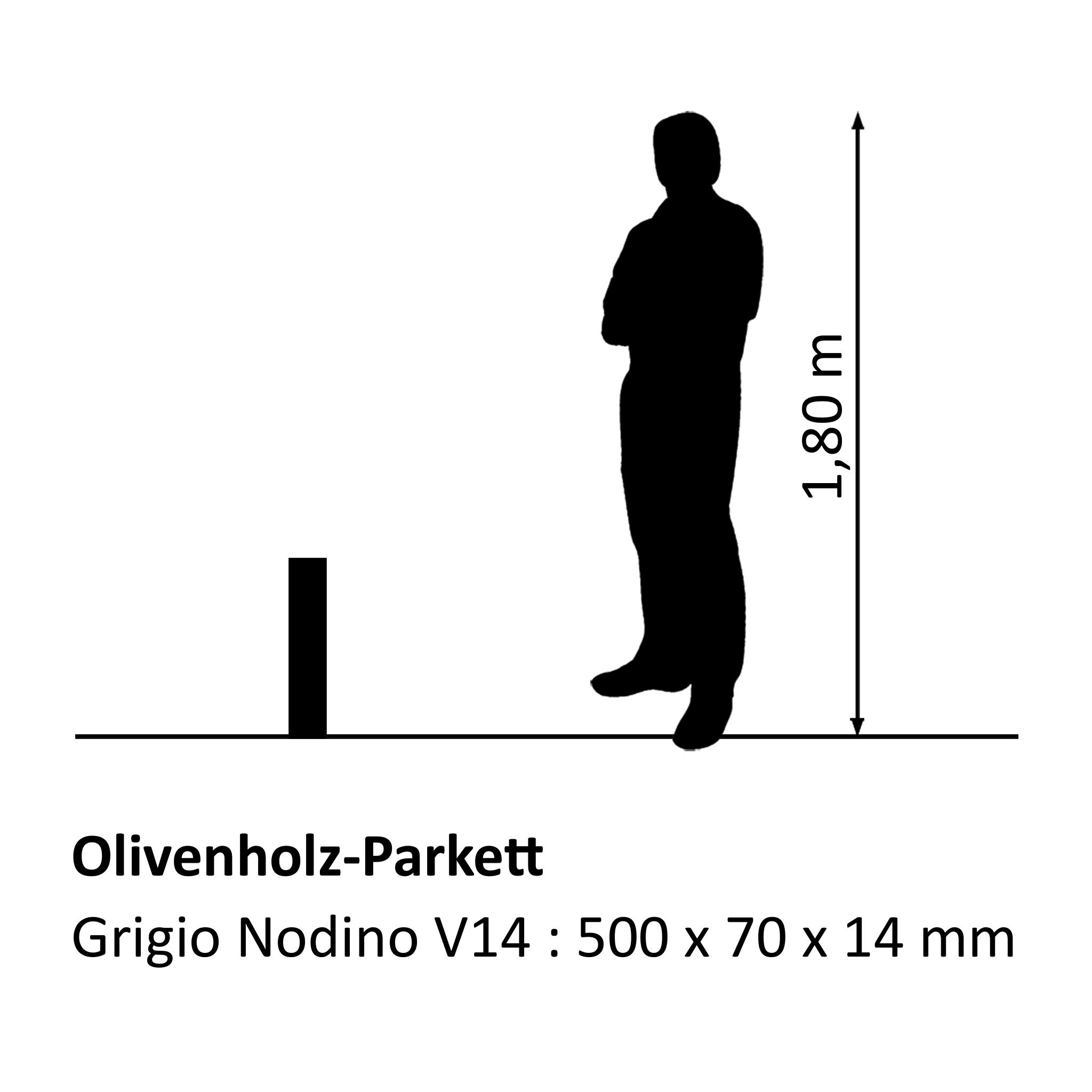 Olivenholzparkett Grigio Nodino V14
