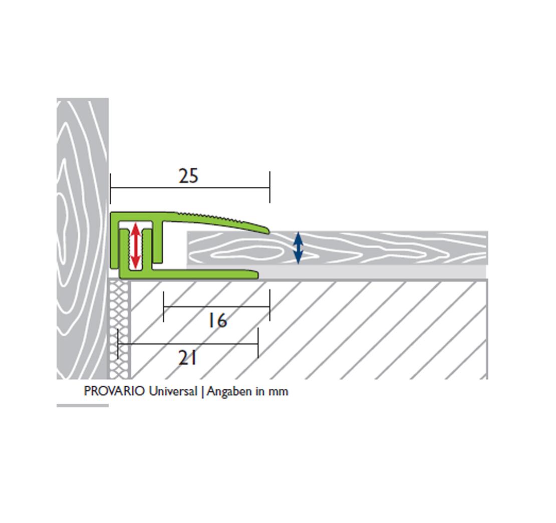 PROVARIO Uni finish stainless steel V2A