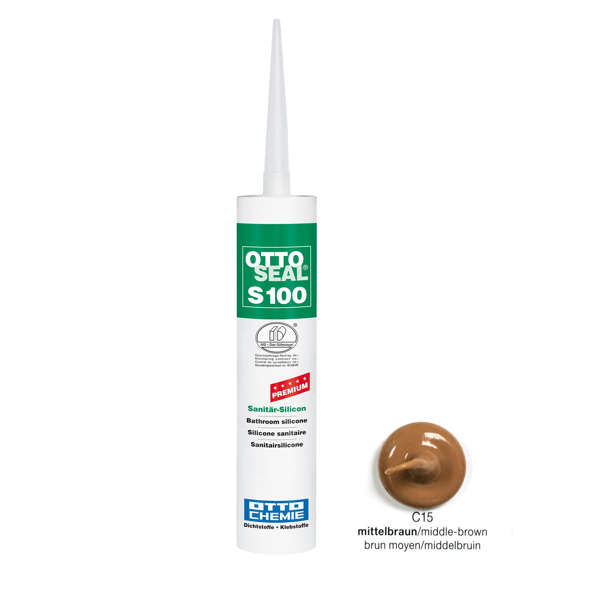 Joint sealing silicone medium brown