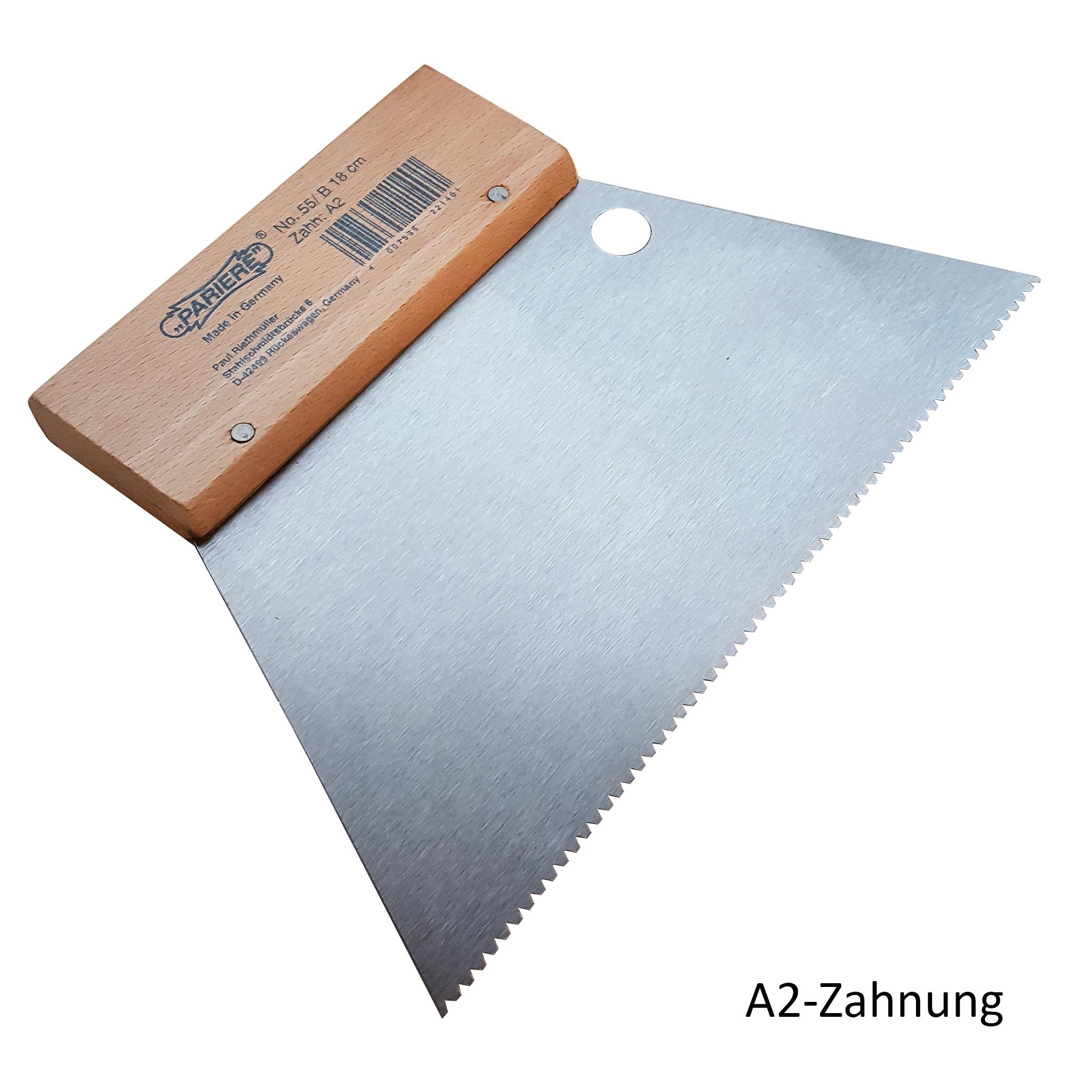 Zahnspachtel 18cm Zahnung A (PAR)