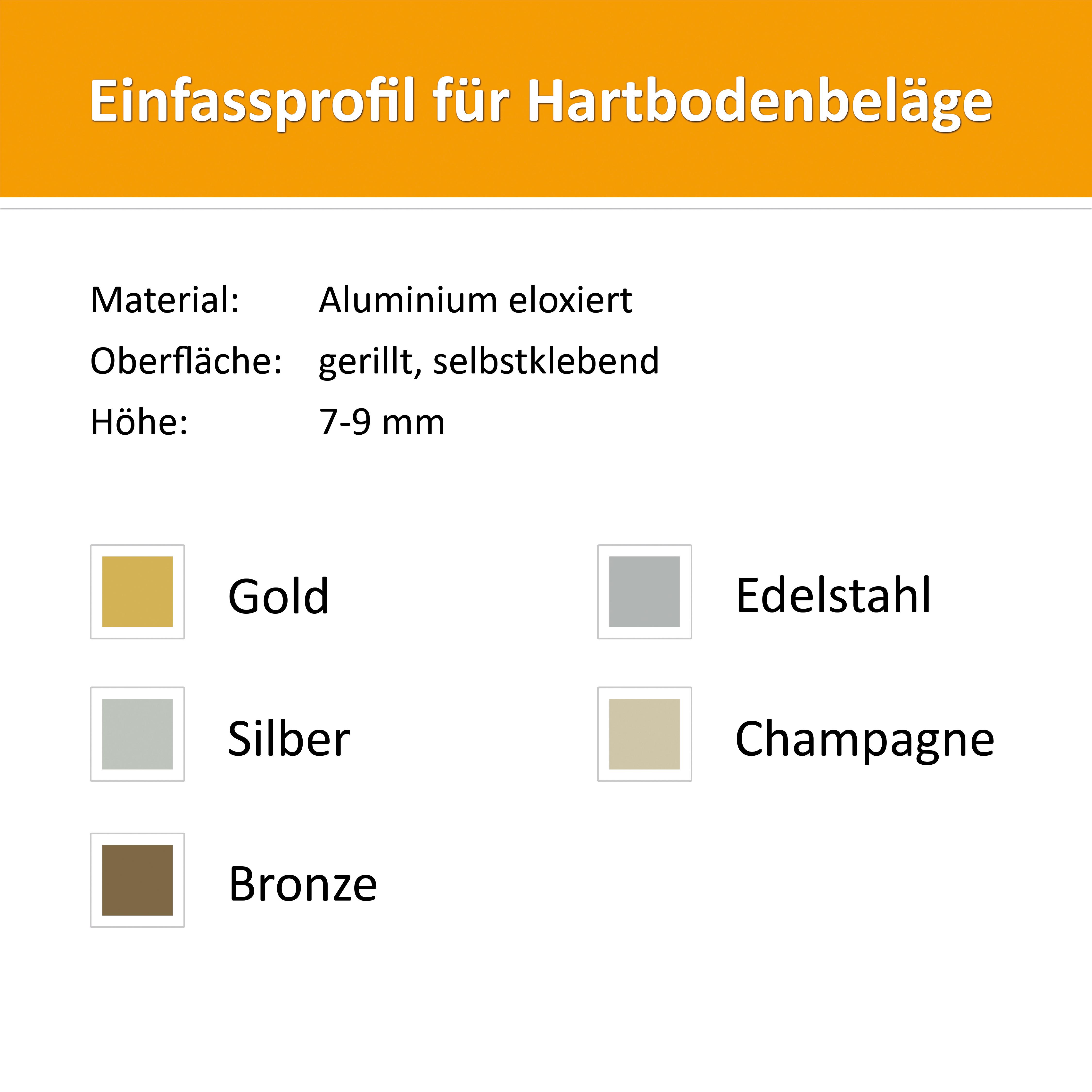 Einfassprofil 7-9mm Alu Champagne