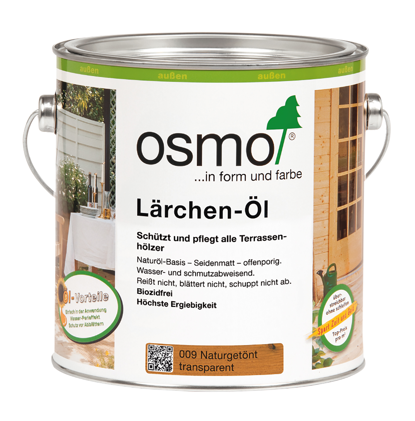 Osmo Lärchen-Öl Natur 2,5 Ltr.