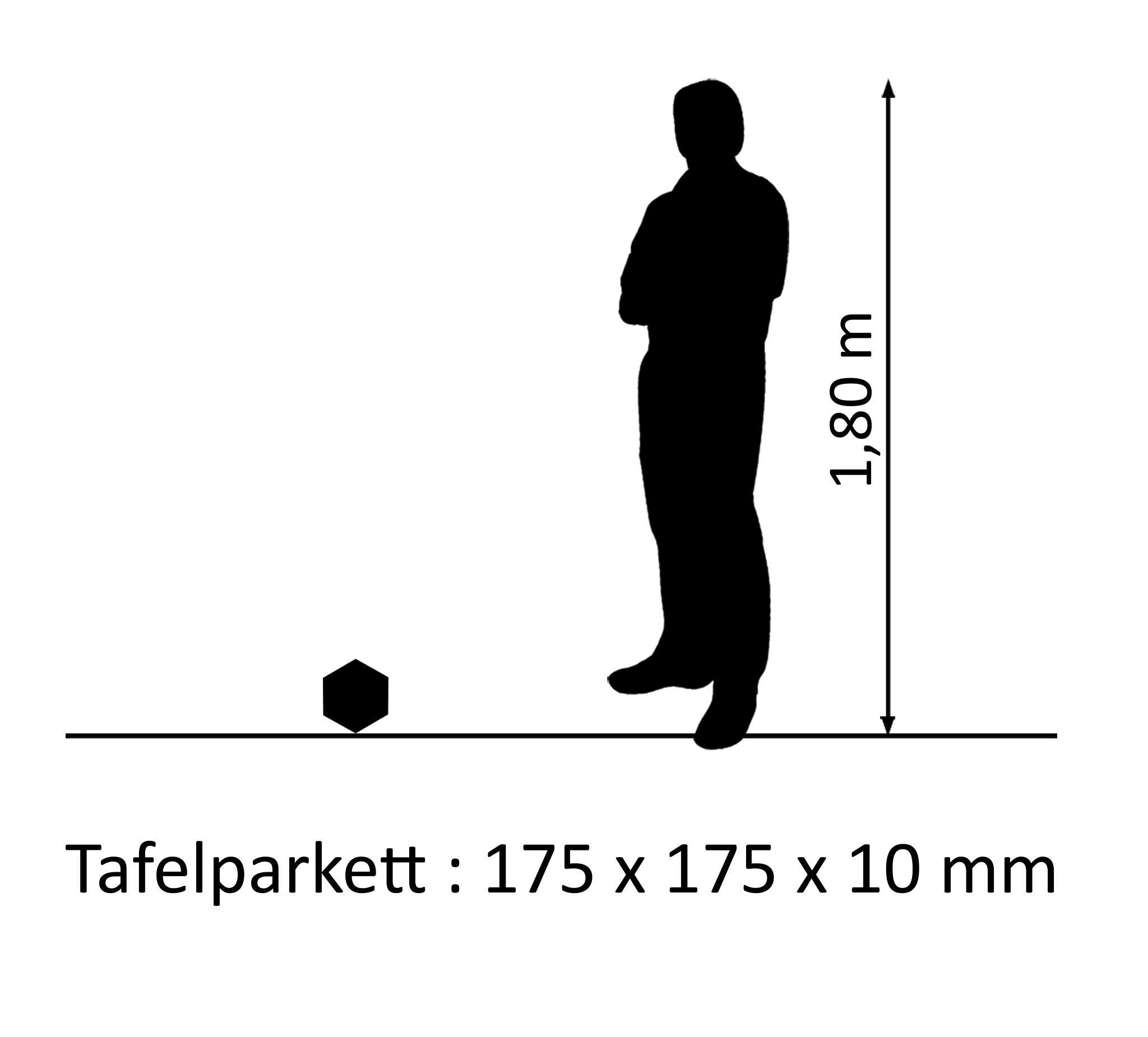 Designparkett Eiche Karo Rustikal 10mm