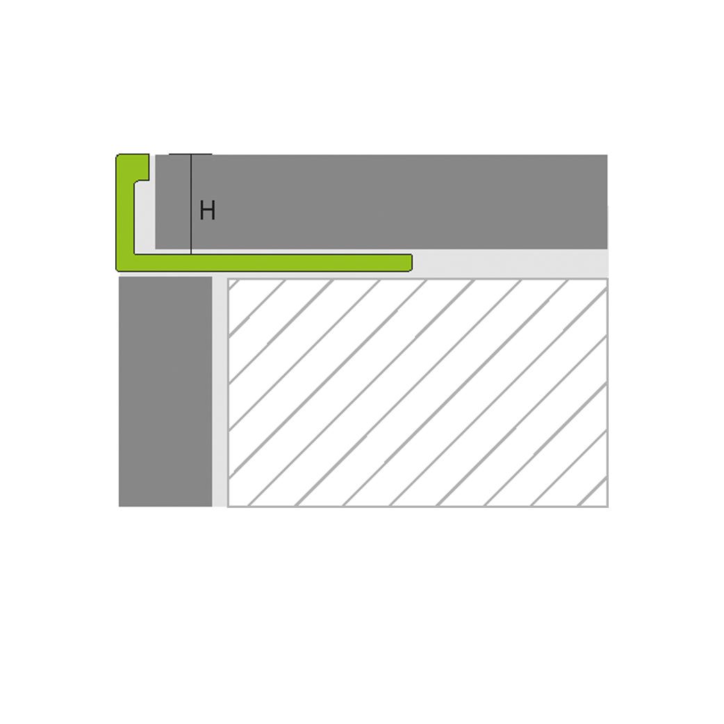Winkel-Abschlussprofil Messing 3mm
