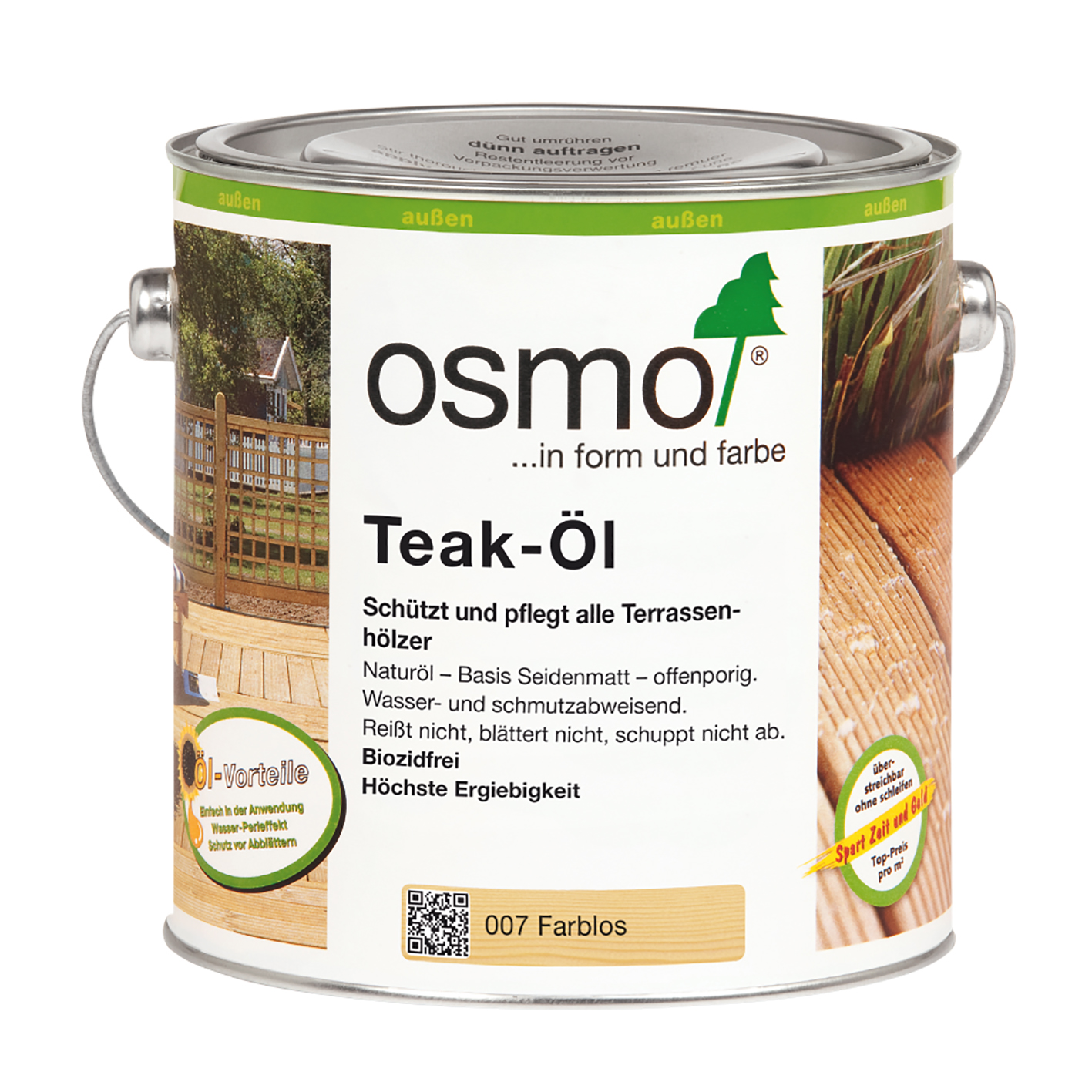Osmo Teak-Öl farblos 2,5 Ltr.
