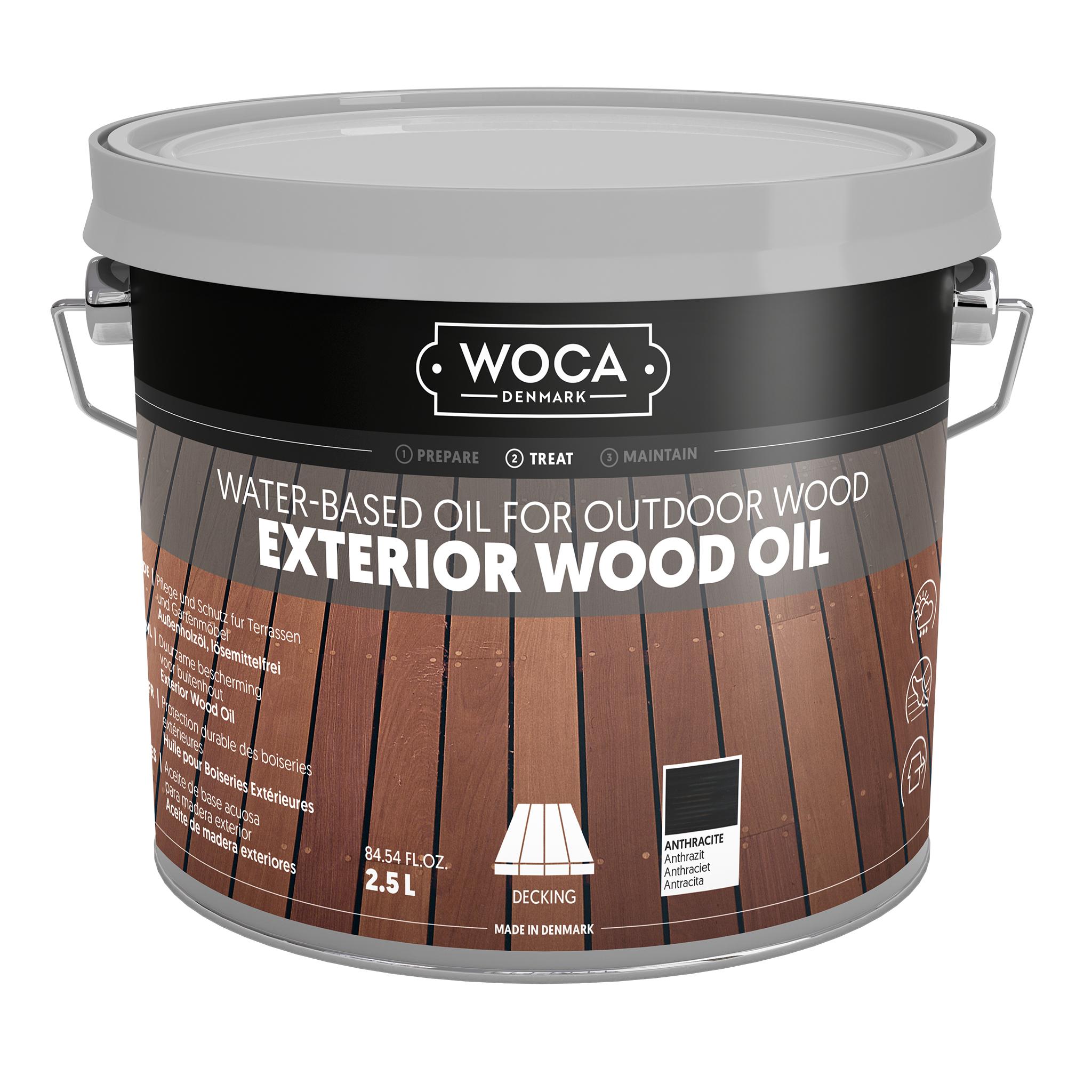 WOCA Exterior Öl Anthrazit 2,5L