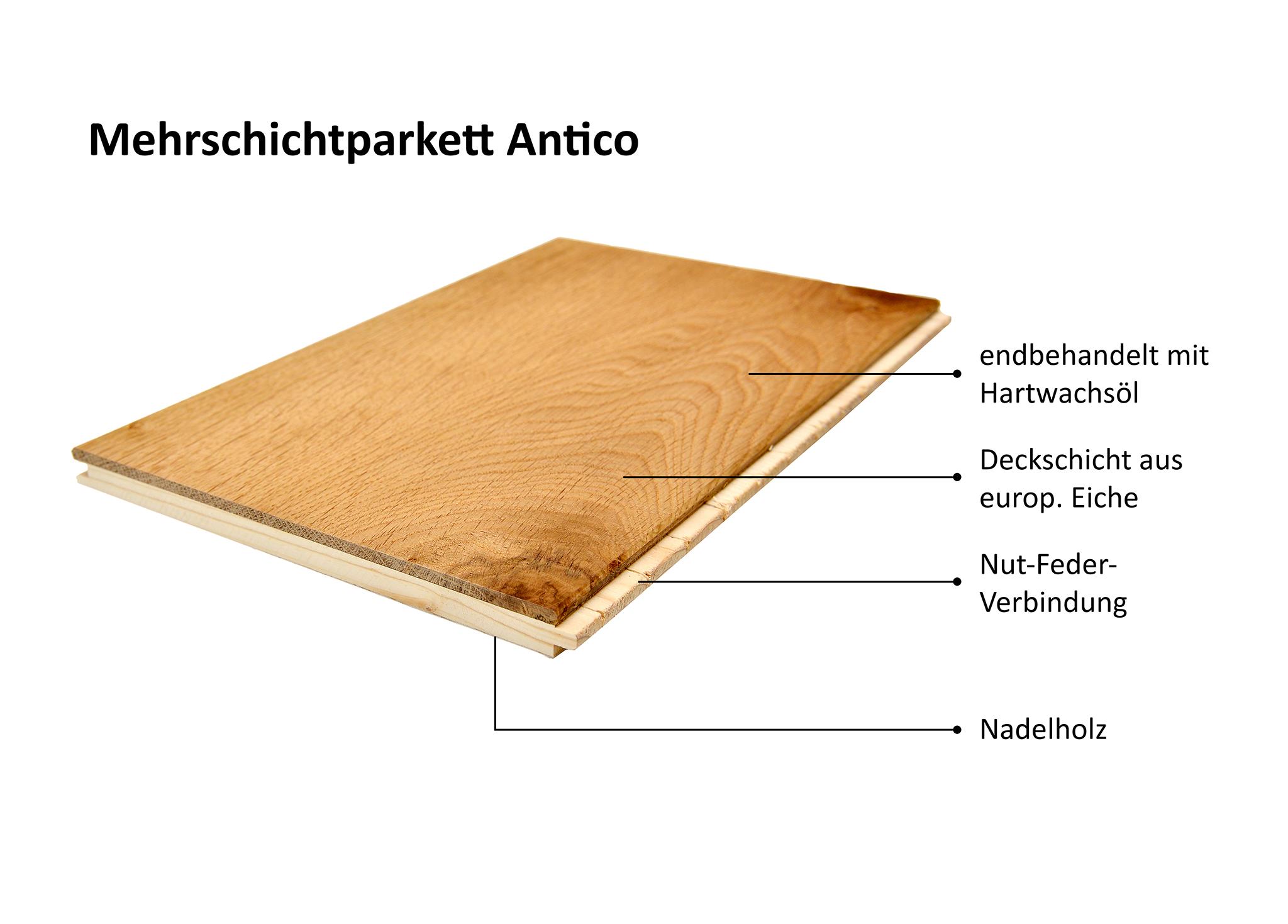 Landhausdiele Antico Eiche Soft Tone N/F