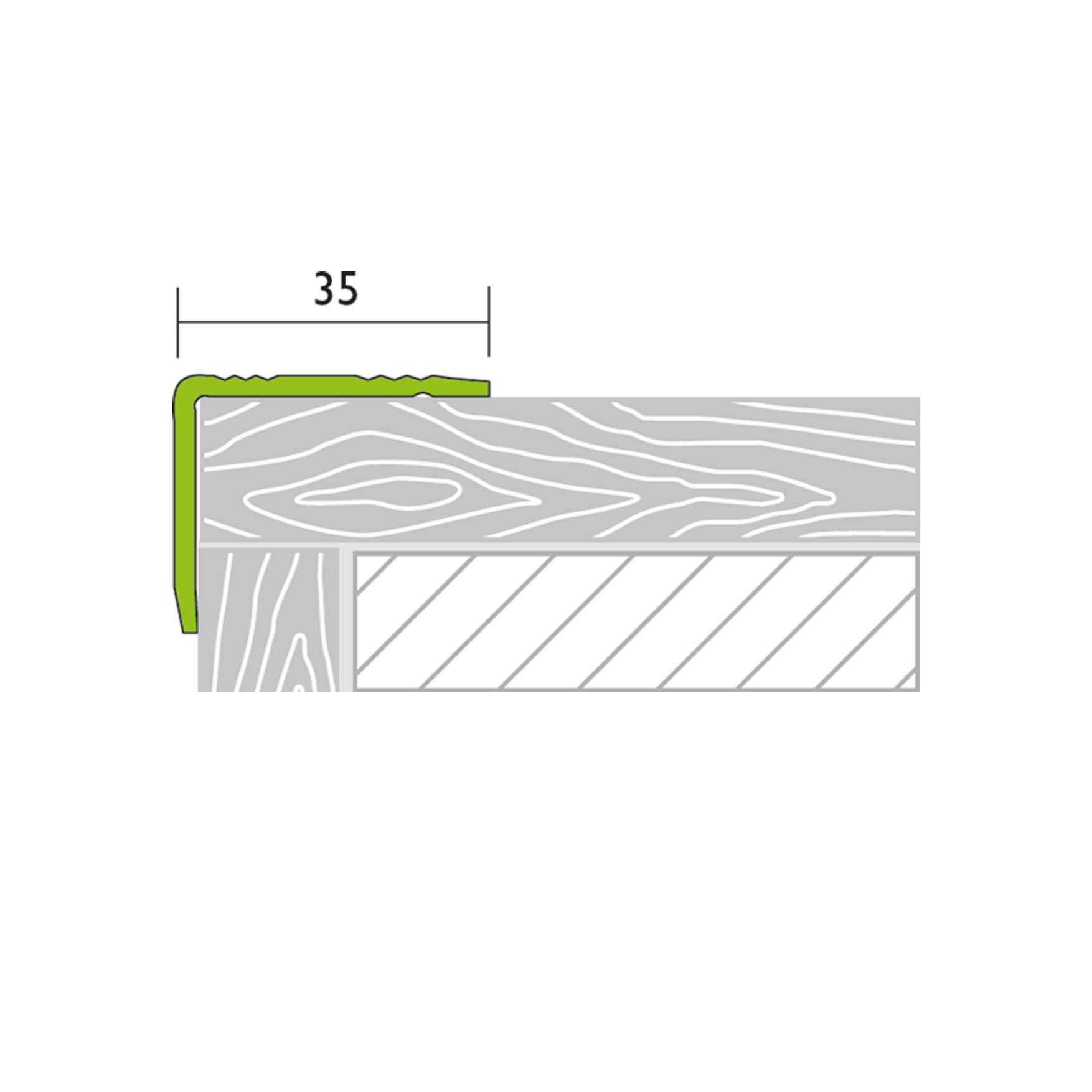 Treppenkantenprofil Alu Silber