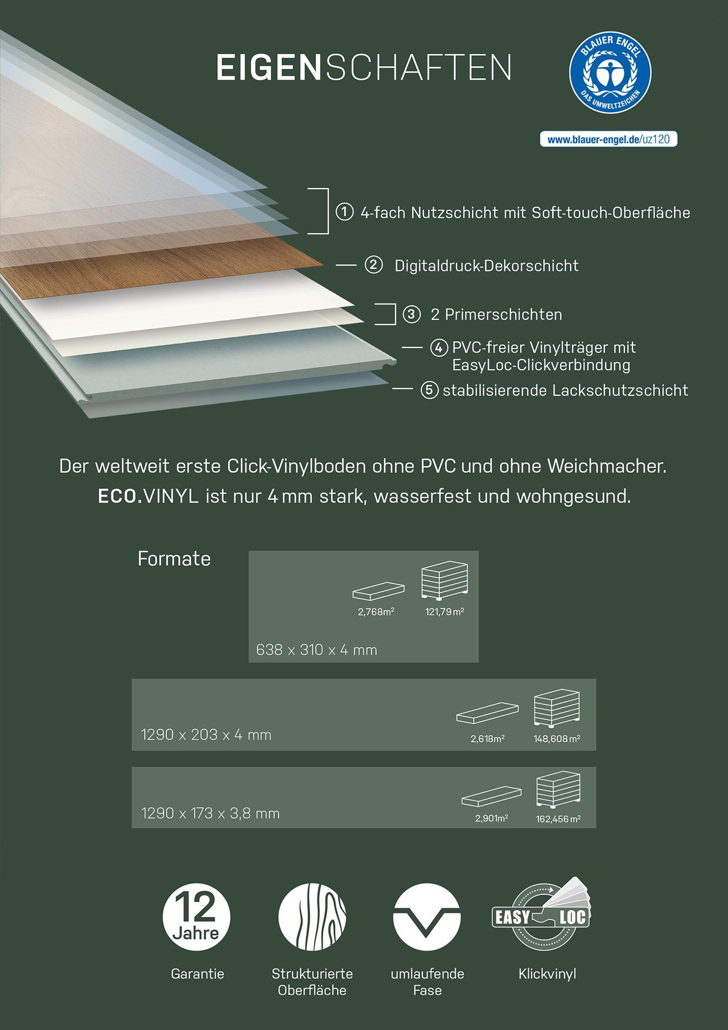 Eco Vinyl Pinie Memory Vinylboden