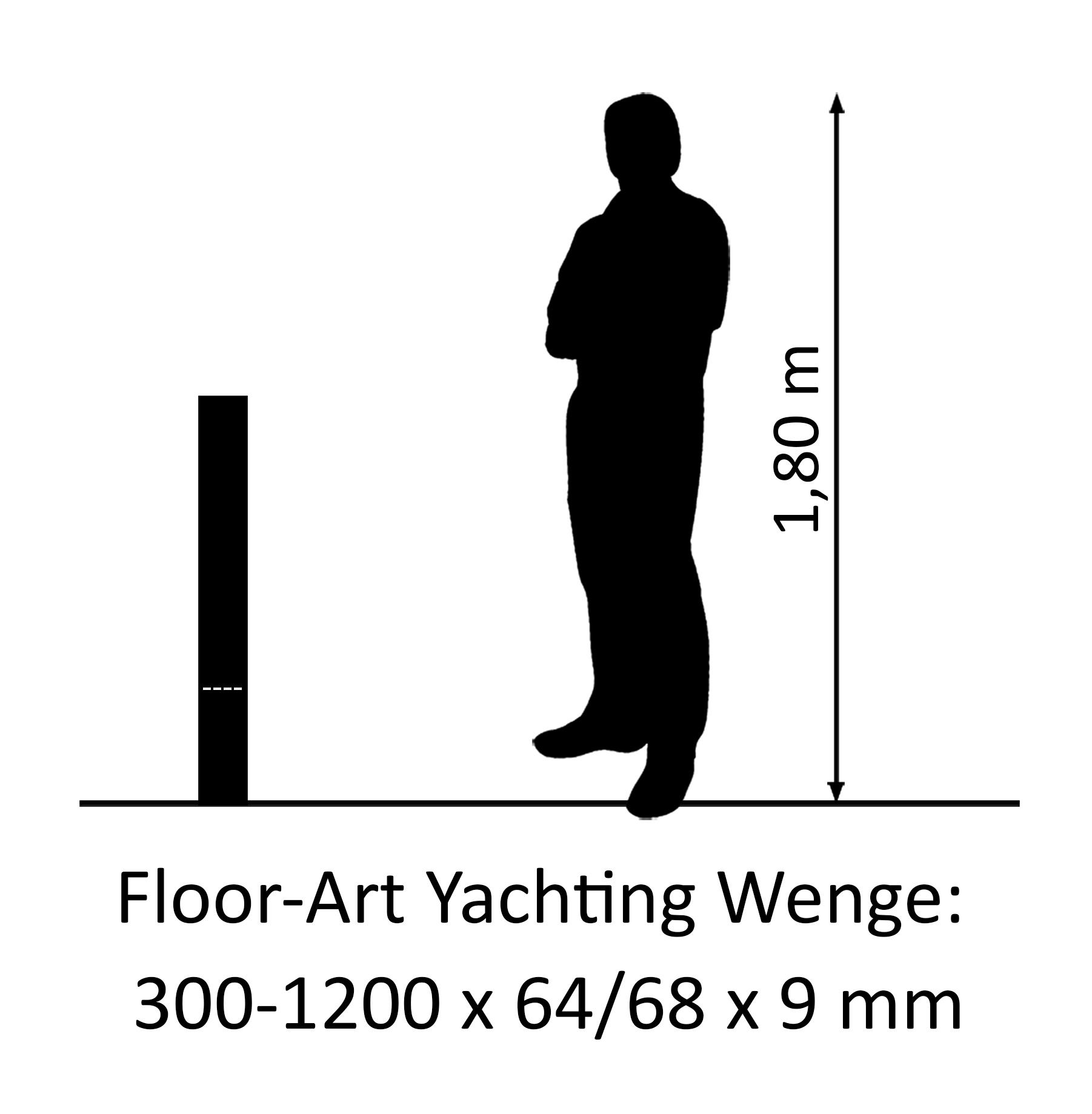 Floor-Art Yachting afrikanische Wenge