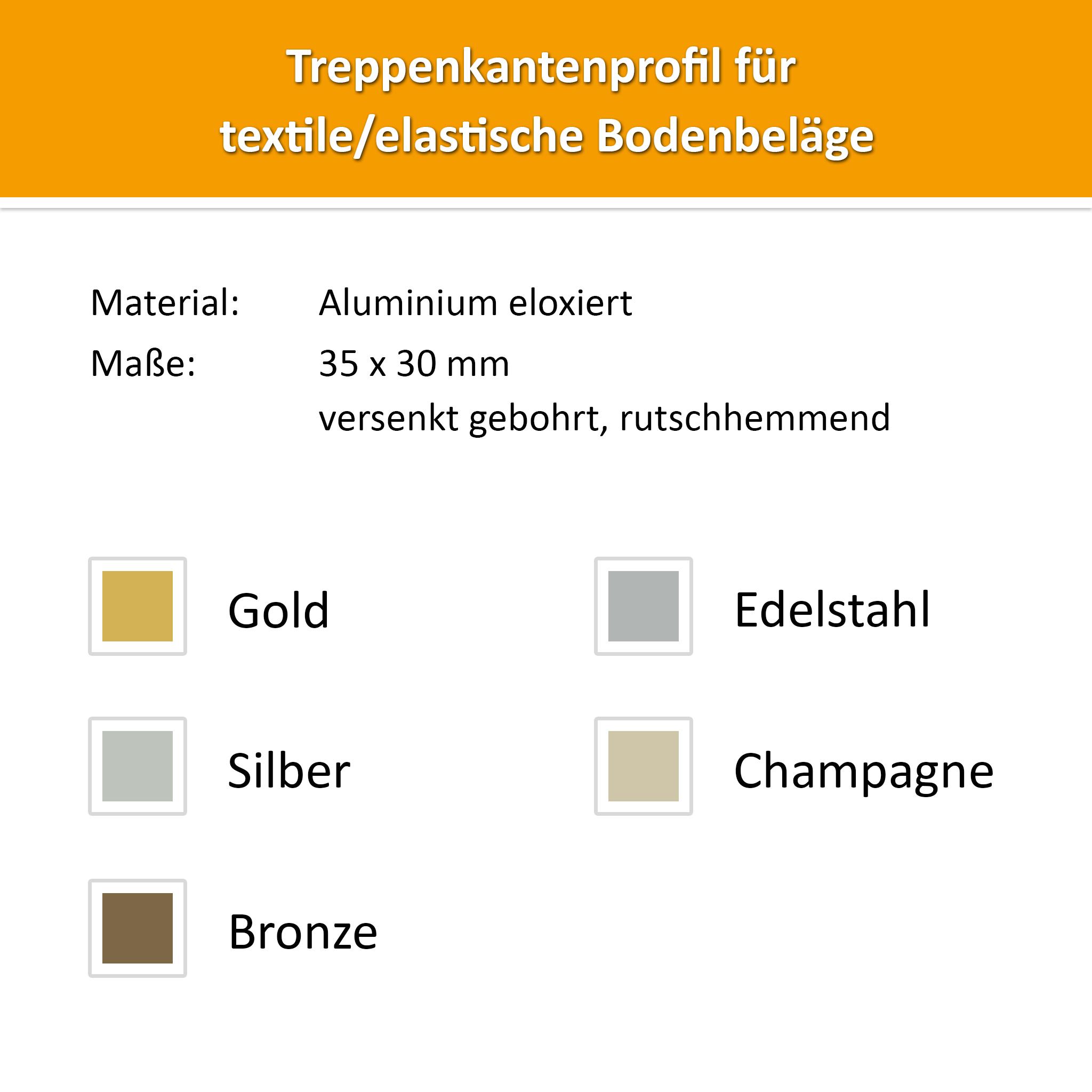 Treppenkantenprofil Alu Champagne