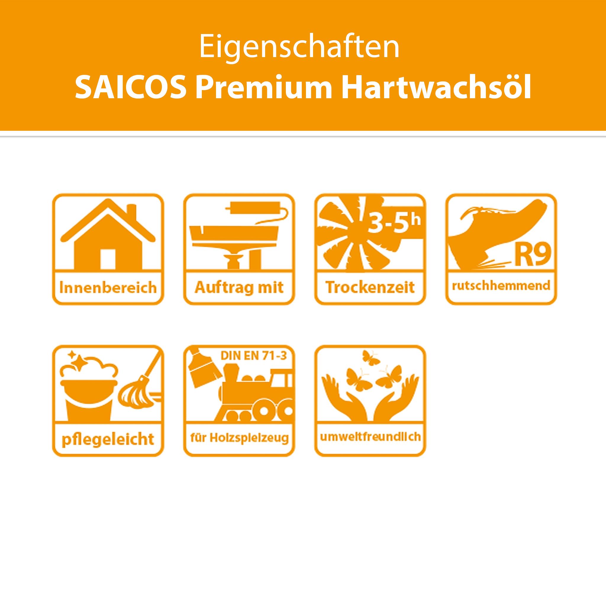 SAICOS Premium Hartwachsöl Seidenmatt
