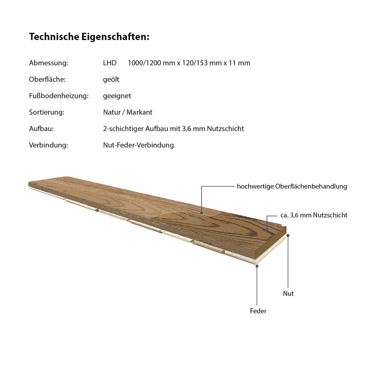 Floor-Art Da Vinci oak markant basalt
