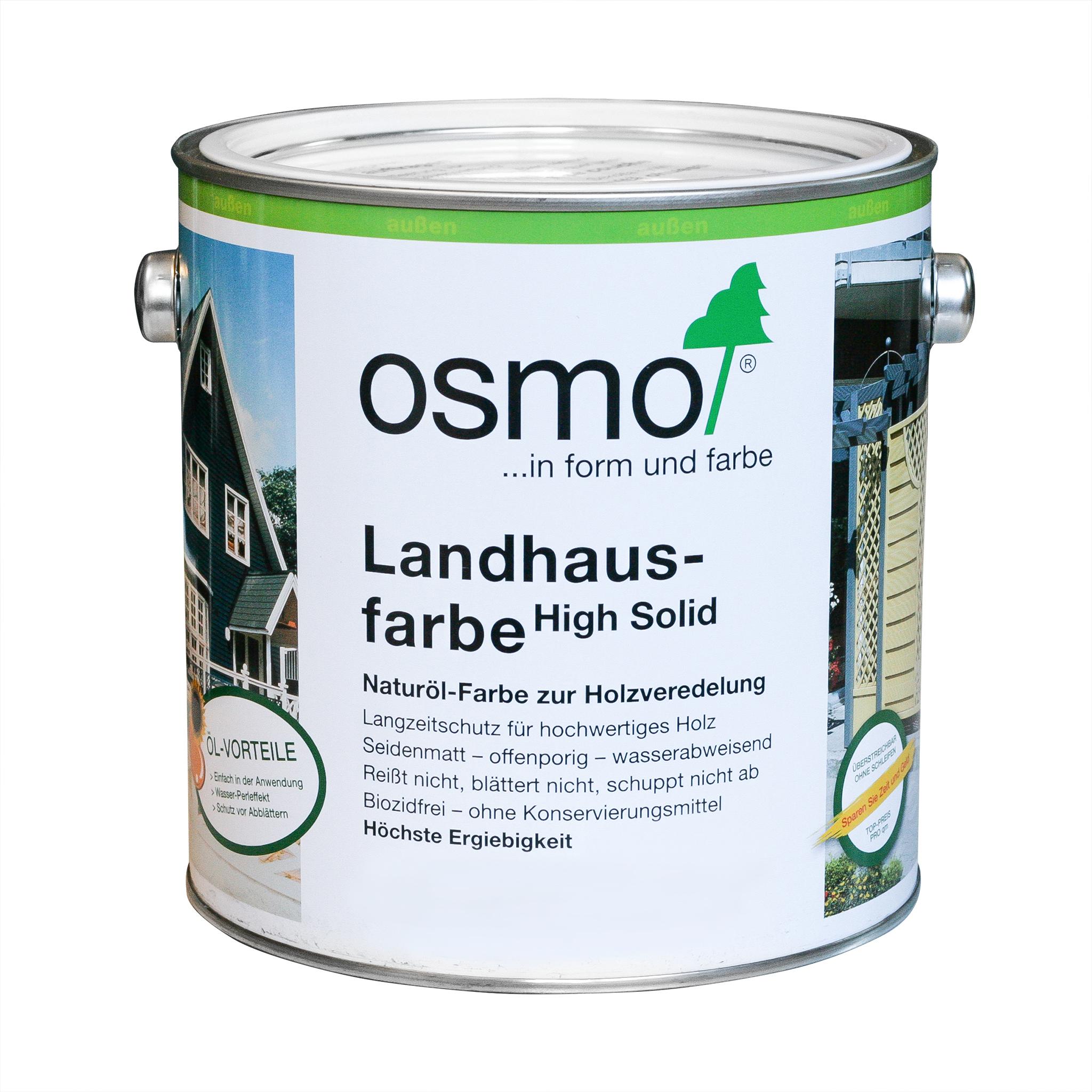 Osmo Landhausfarbe Tannengrün 2,50 Ltr.
