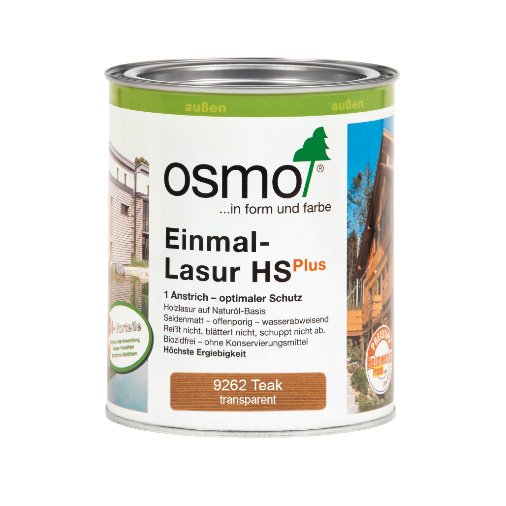Osmo Einmal-Lasur HS+ Teak 750ml
