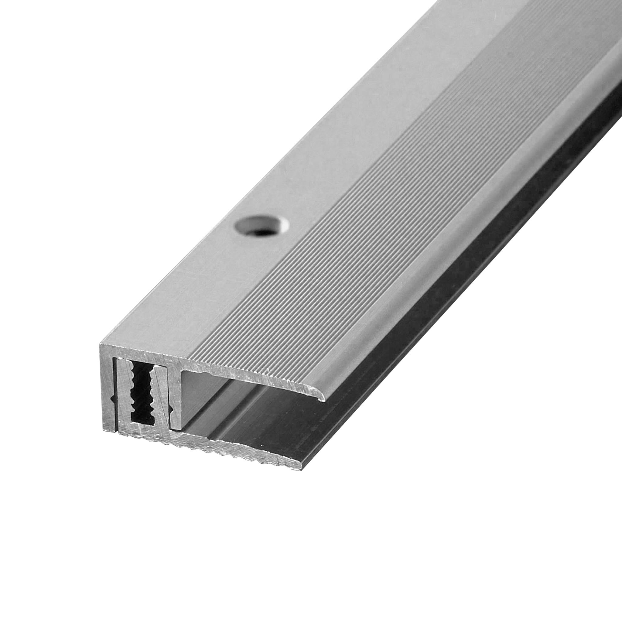 End profile aluminium stainless steel 1m