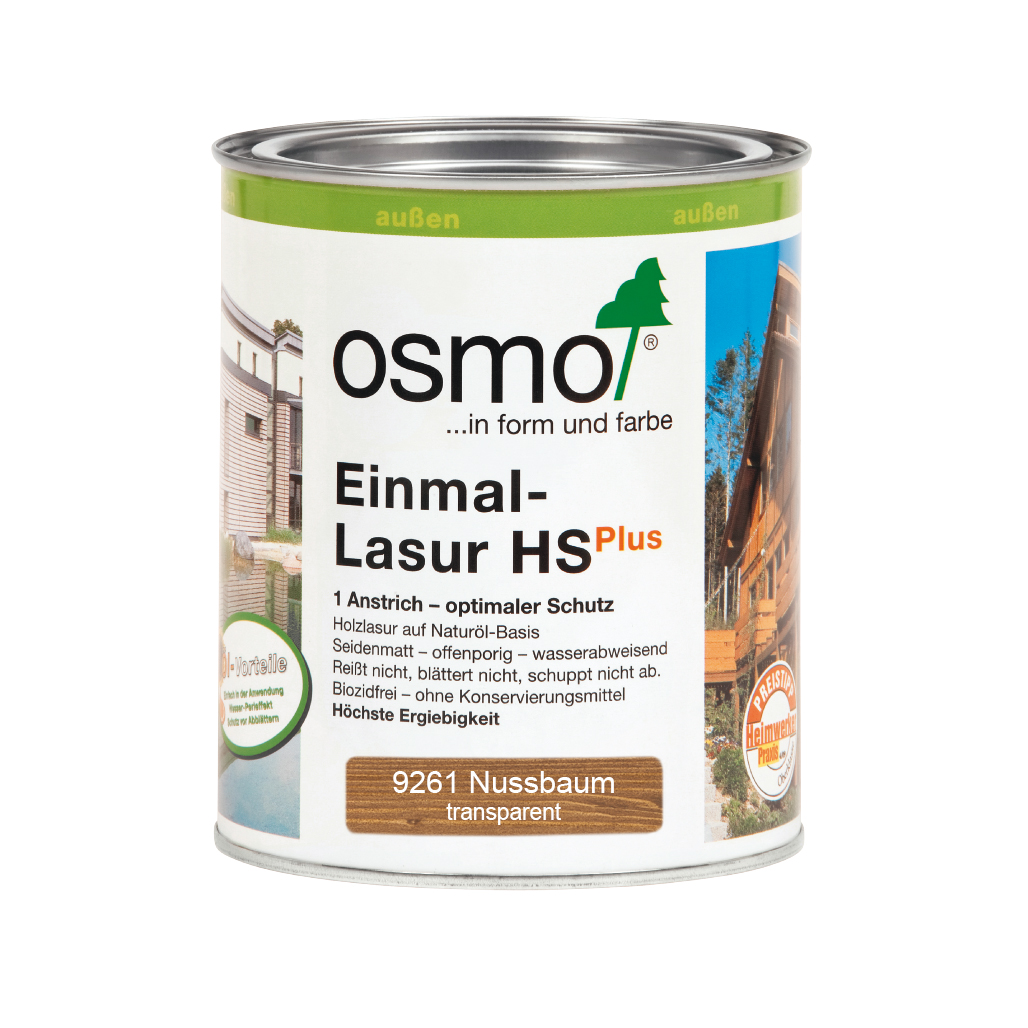 Osmo Einmal-Lasur HS+ Nussbaum 750ml