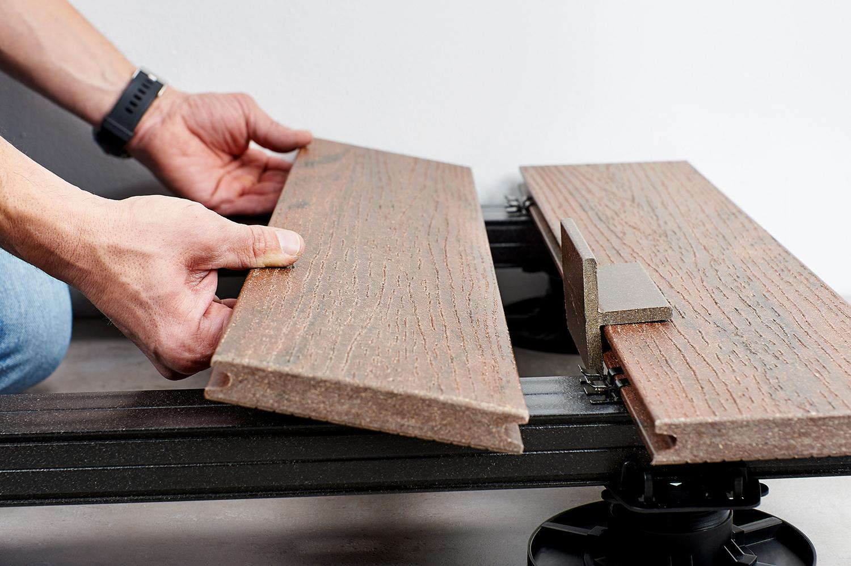NATURinFORM WPC mounting clamp set black