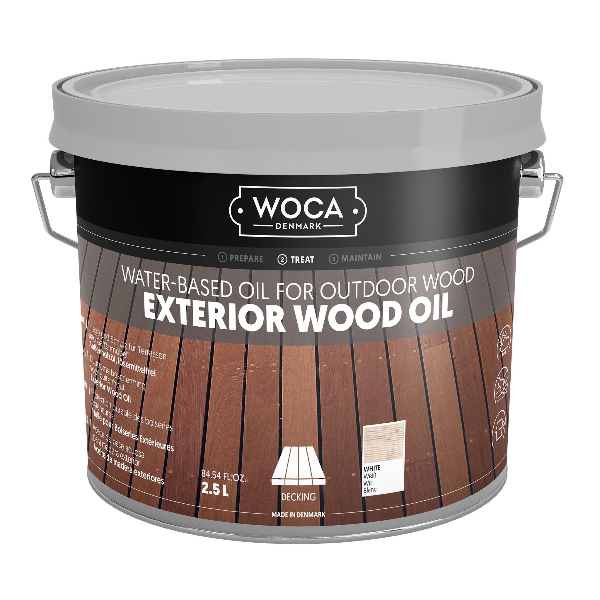 WOCA Exterior Öl Weiß 2,5 L