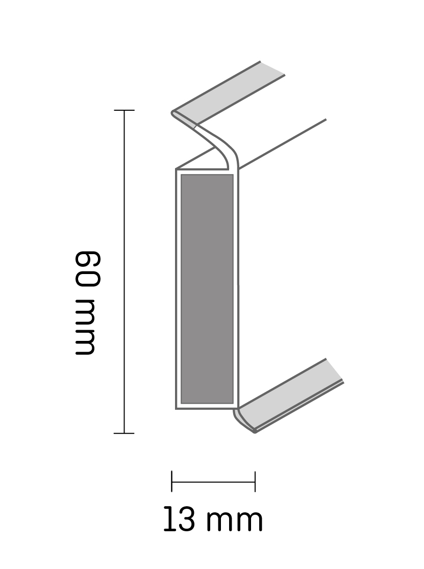 EP60/13 flex life skirting board
