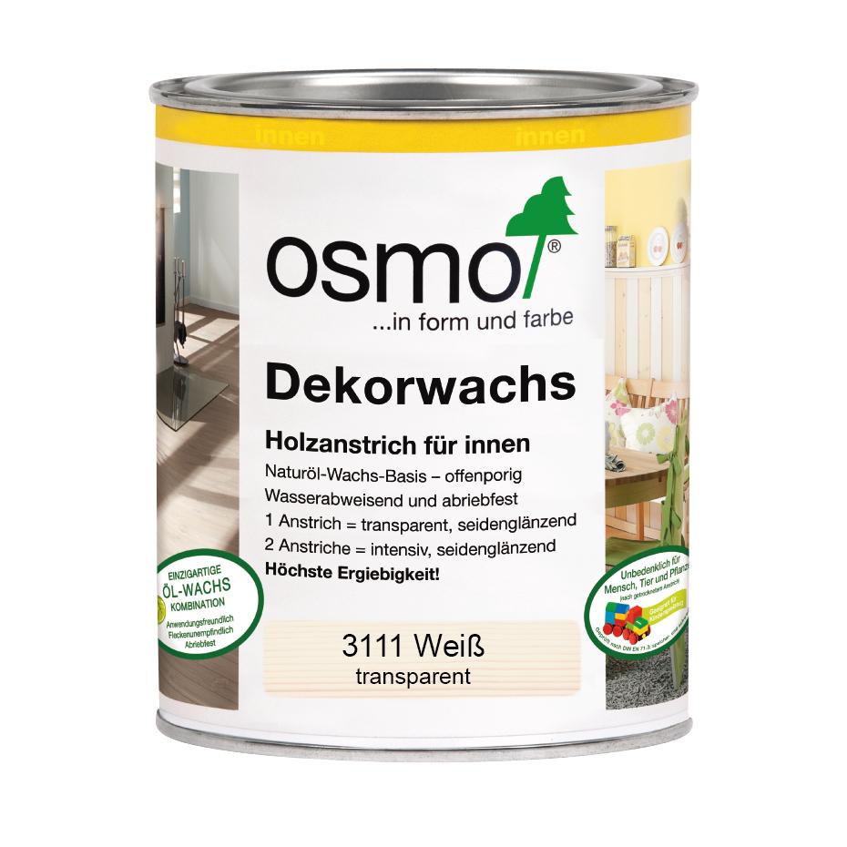 Osmo Dekorwachs transp. weiß 2,5 Ltr.