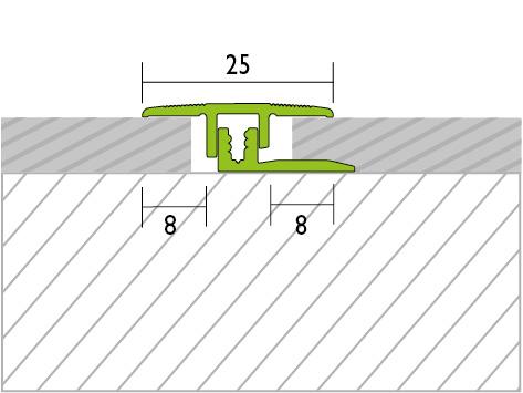 Übergangsprofil Alu Silber 4-9mm